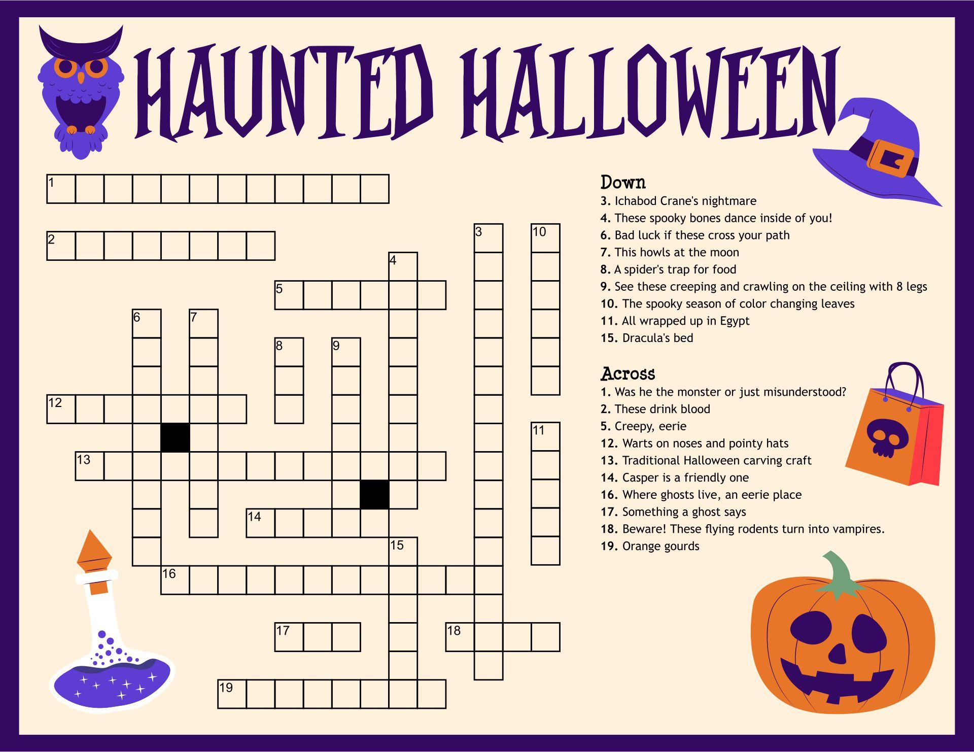 Halloween Activity Sheets Free Printable