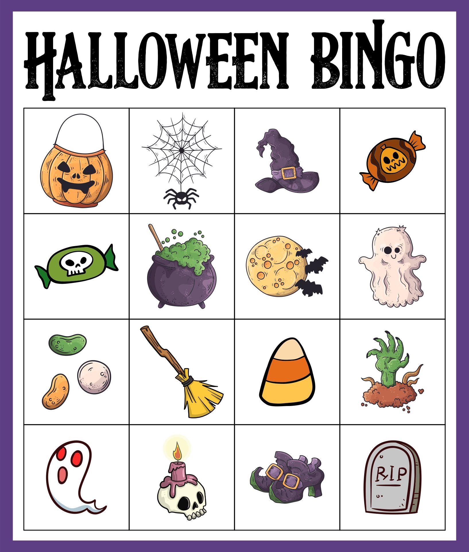 Halloween Bingo Set For Kindergarten & Preschool