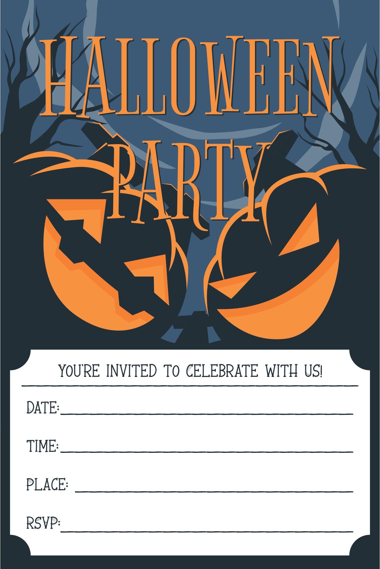 Halloween Birthday Invitations Printable Templates