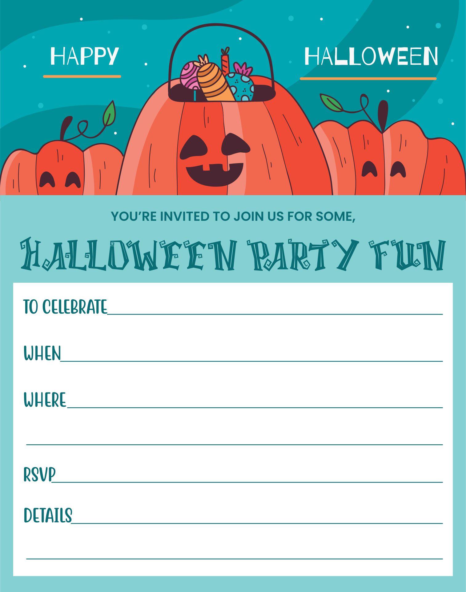 Halloween Birthday Party Invitations Templates Free