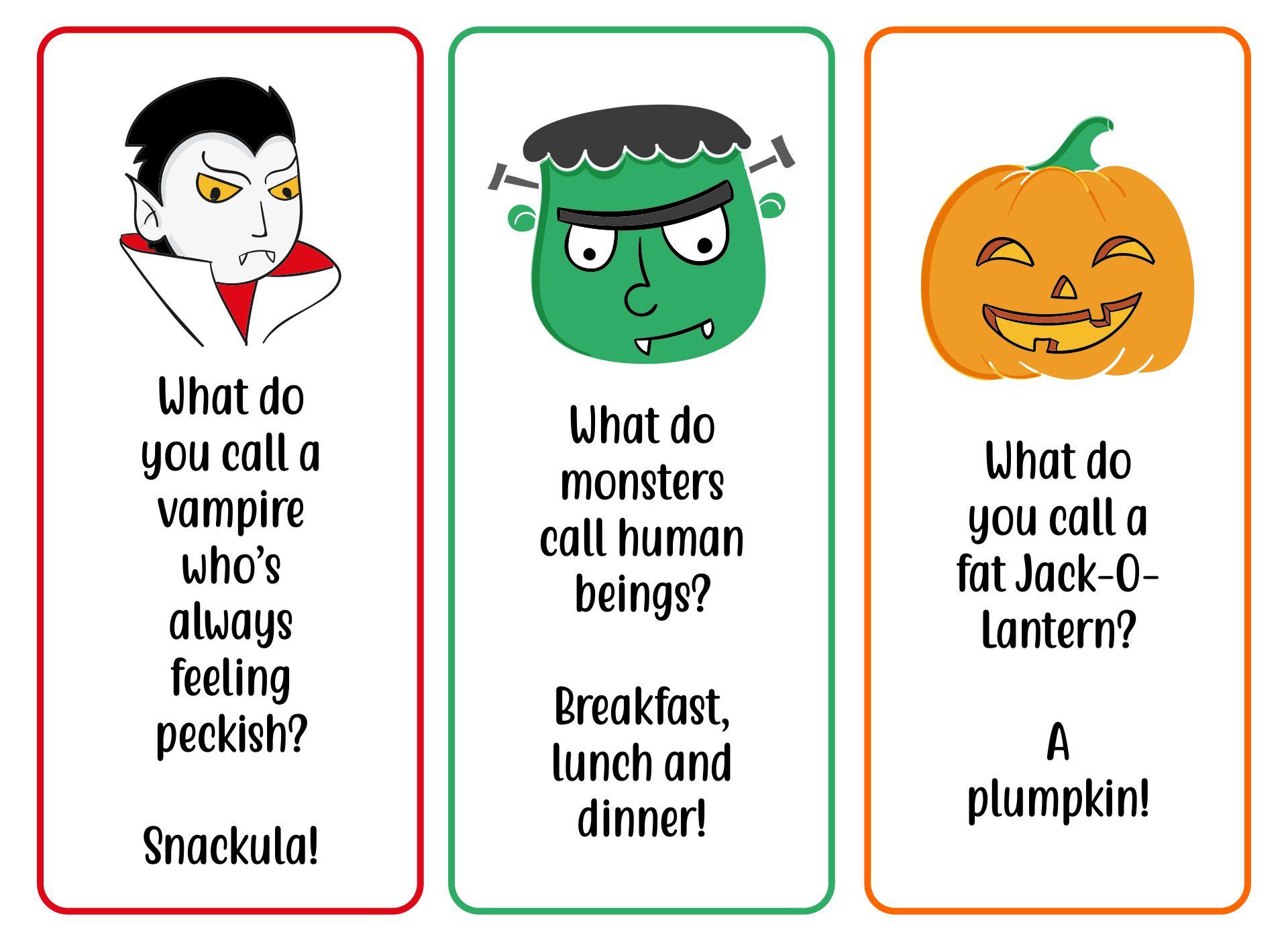 Halloween Bookmarks Riddles, Giggles, Jokes