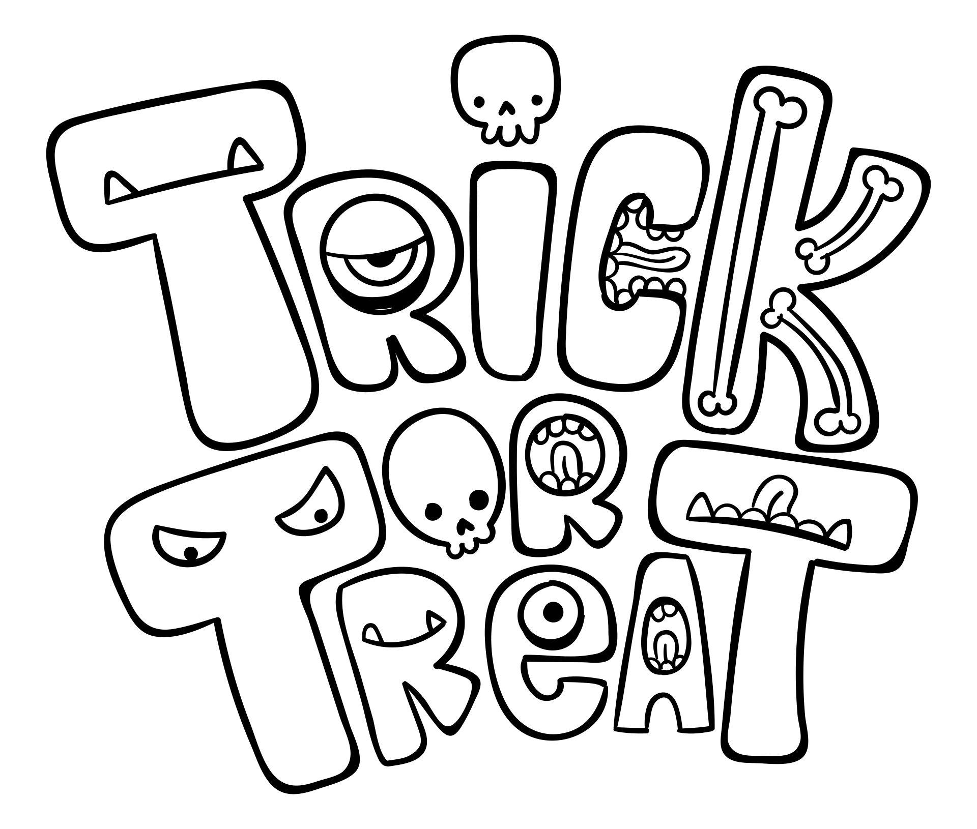 Halloween Coloring Activity Worksheets