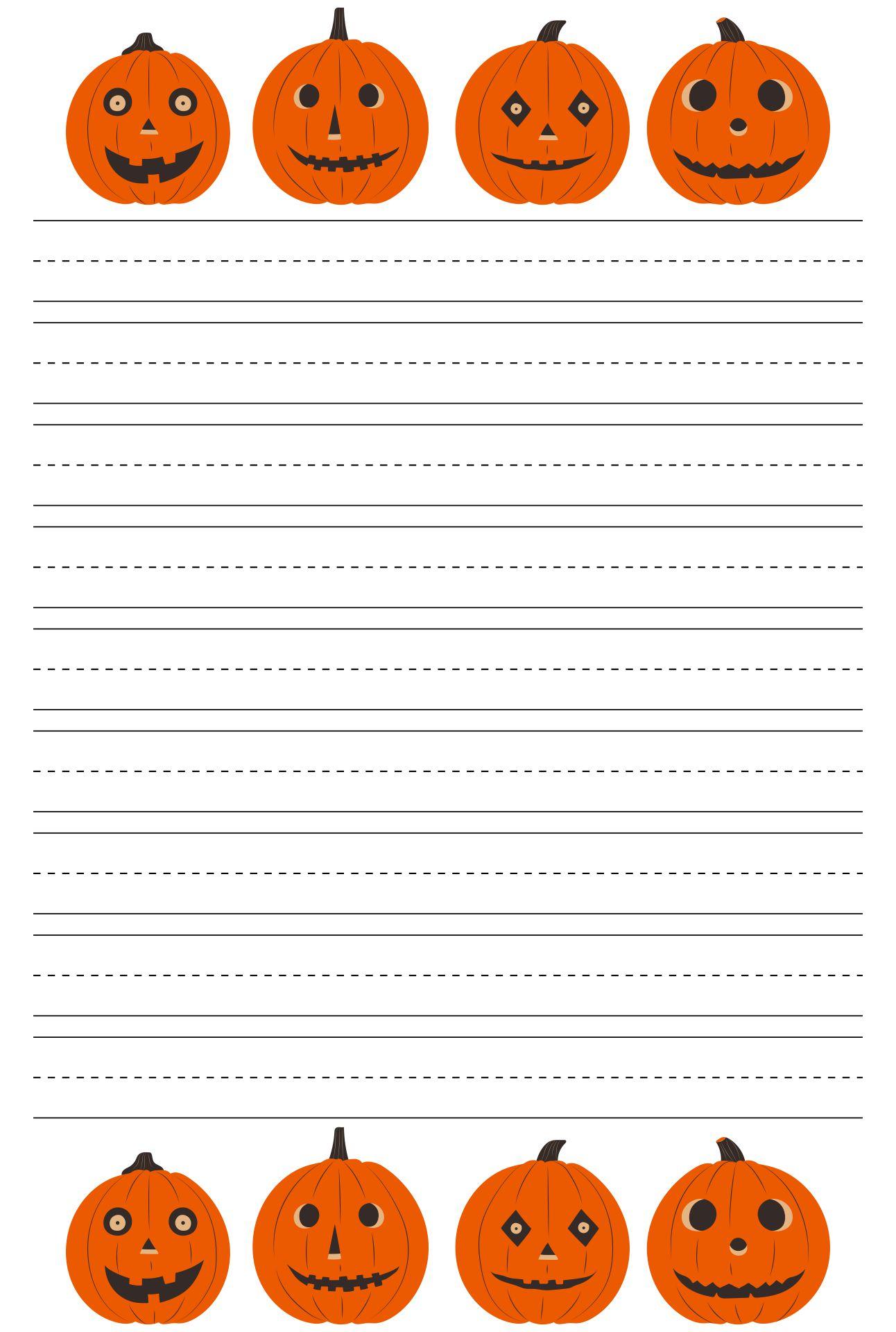 Halloween Creepy Jack O Lantern Letterhead Writing Paper