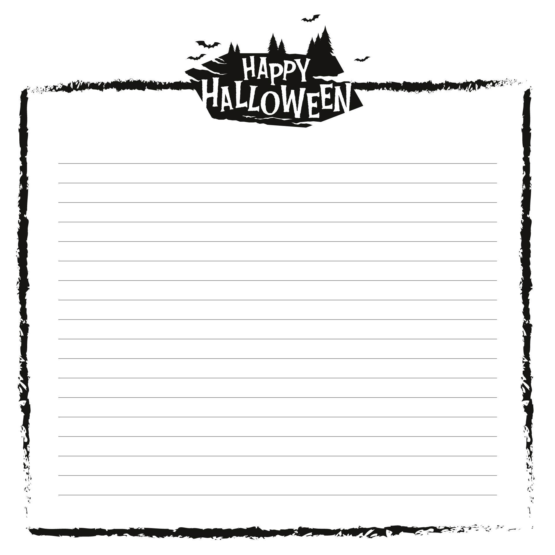 Halloween Fun Border Papers