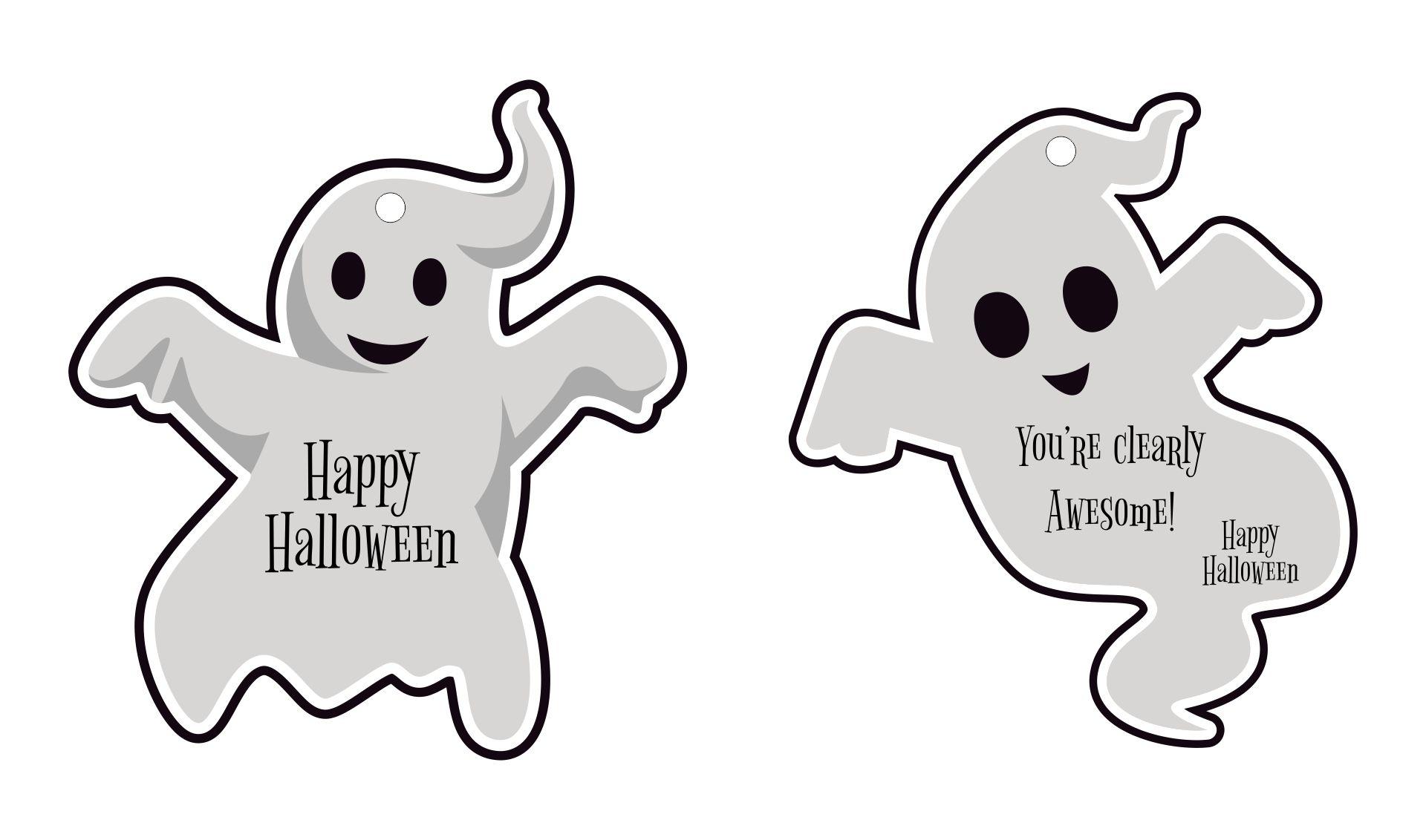 Halloween Ghost Gift Tags Printable