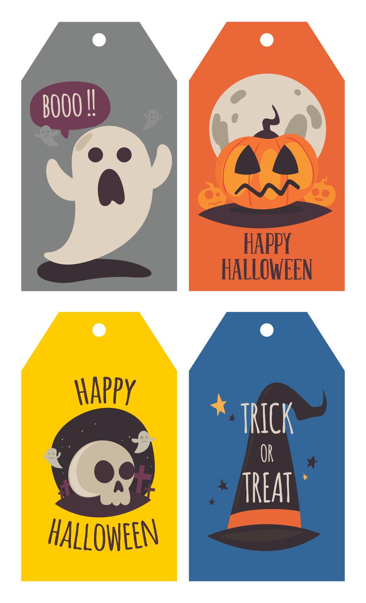 Halloween Goodie Bag Name Tags