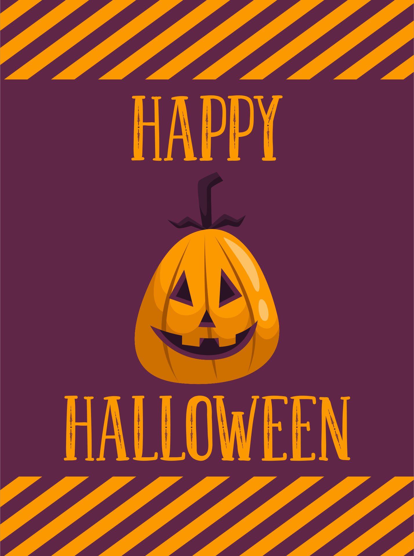 Halloween Greeting Card With Jack-O-Lantern