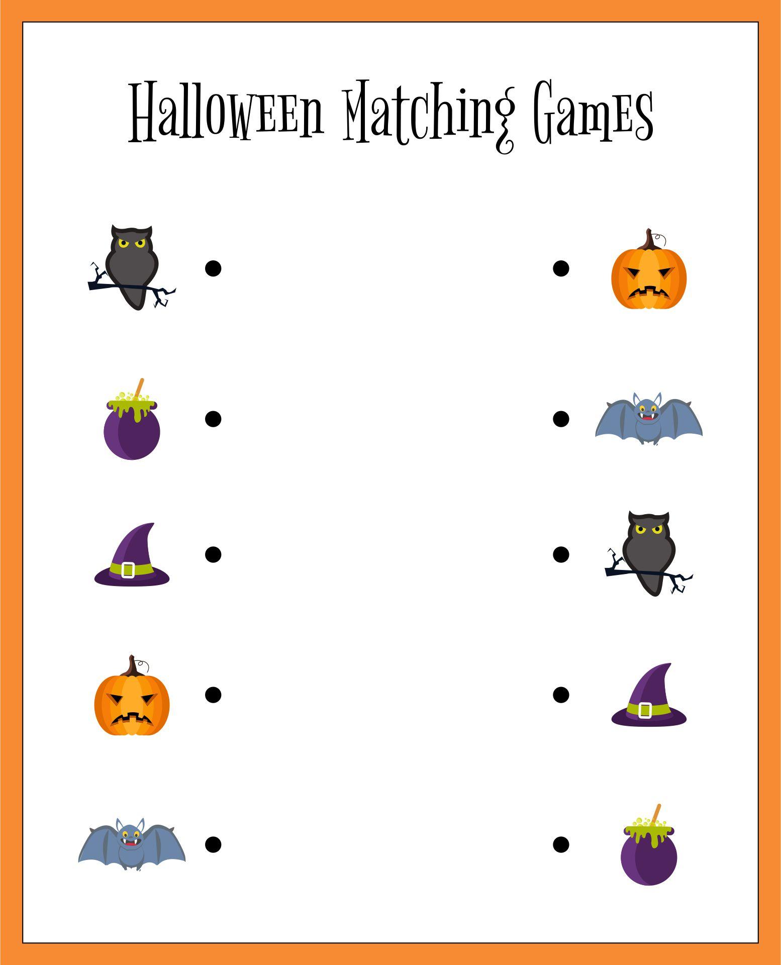 Halloween Matching Games Printable