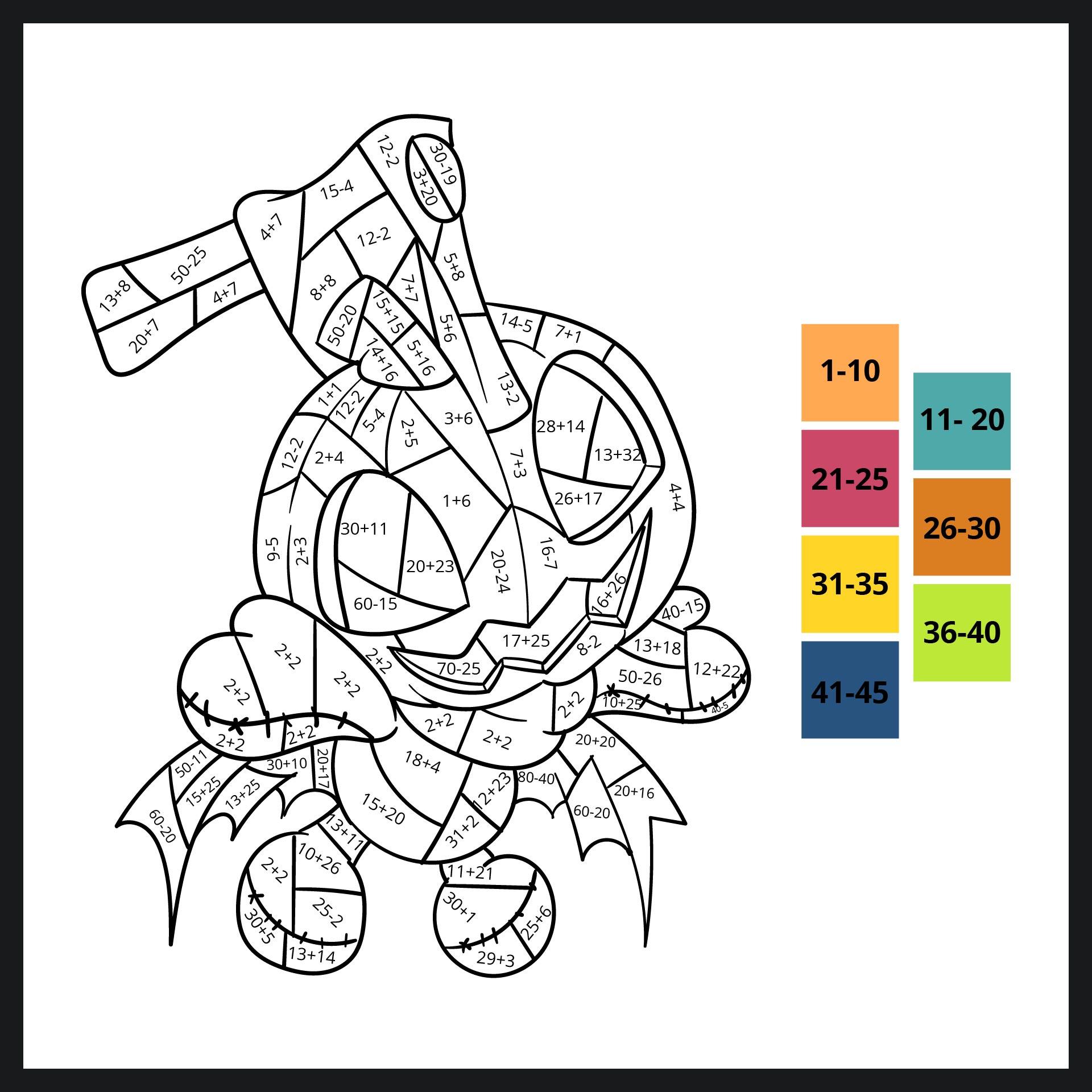 Halloween Math Coloring Sheets