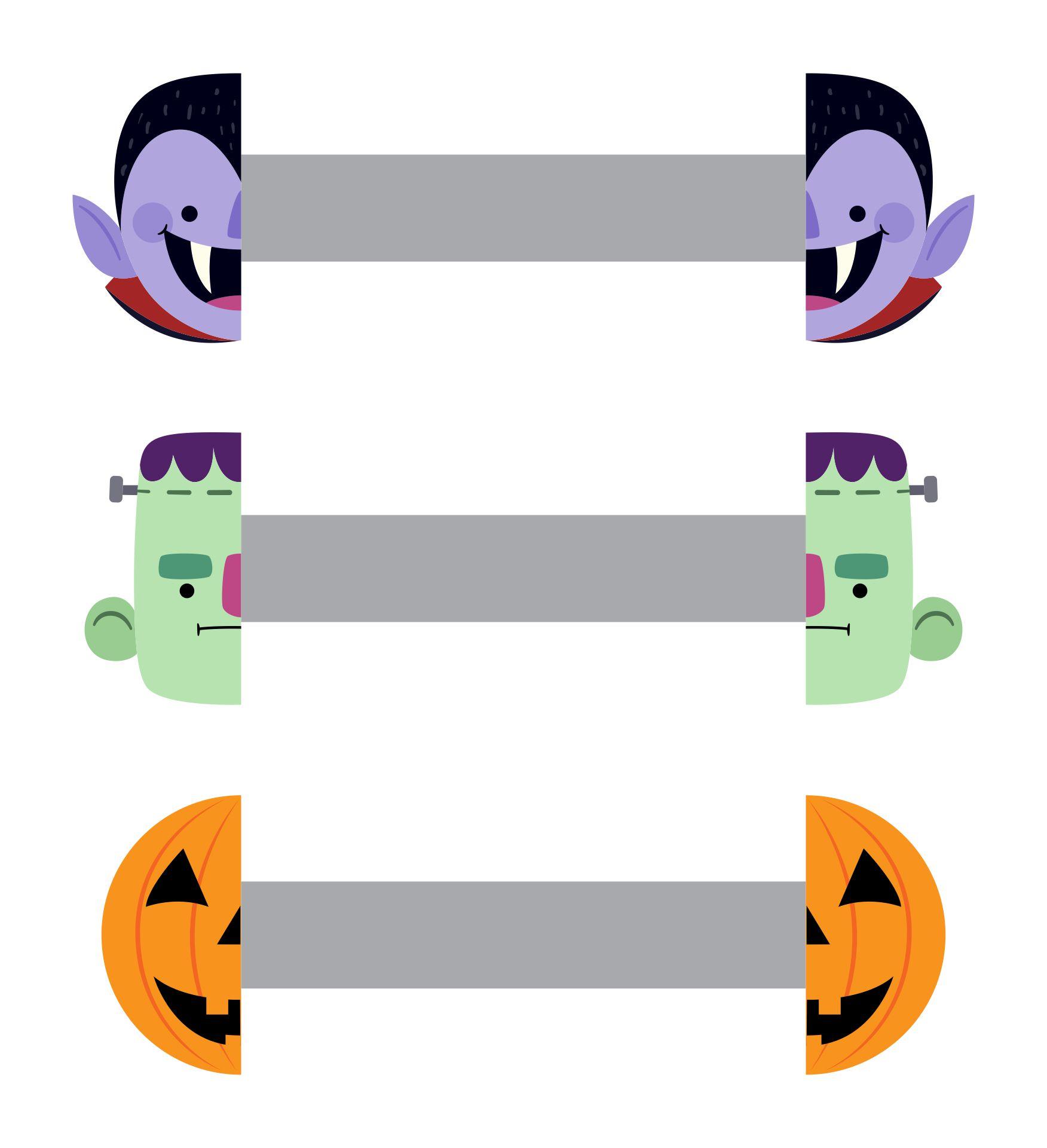 Halloween Monsters Paper Rings