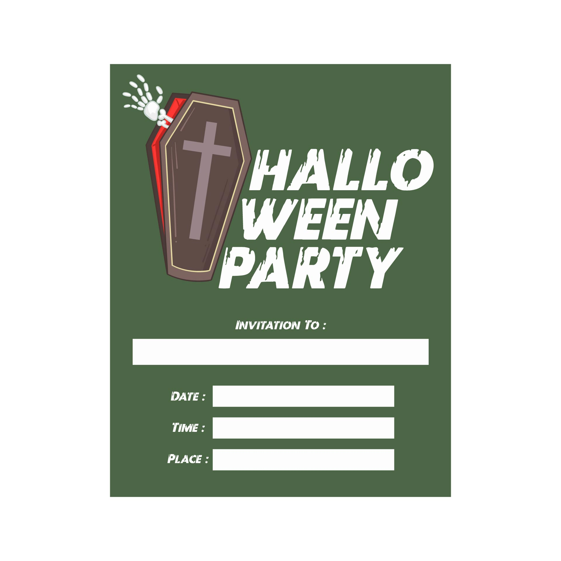 Halloween Party Invitations Printable Free Scary