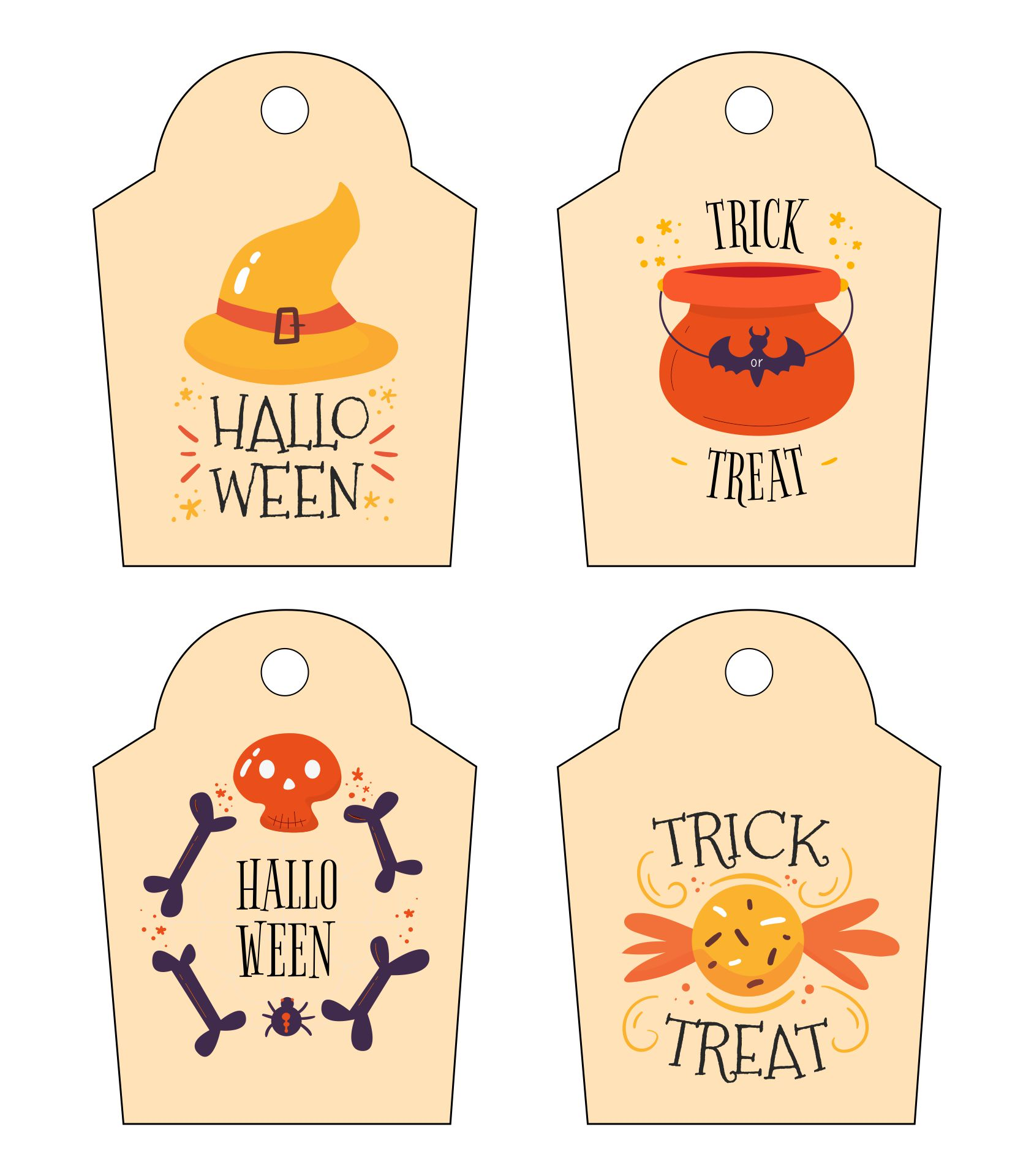 Halloween Tags Printable Halloween Tag Personalized