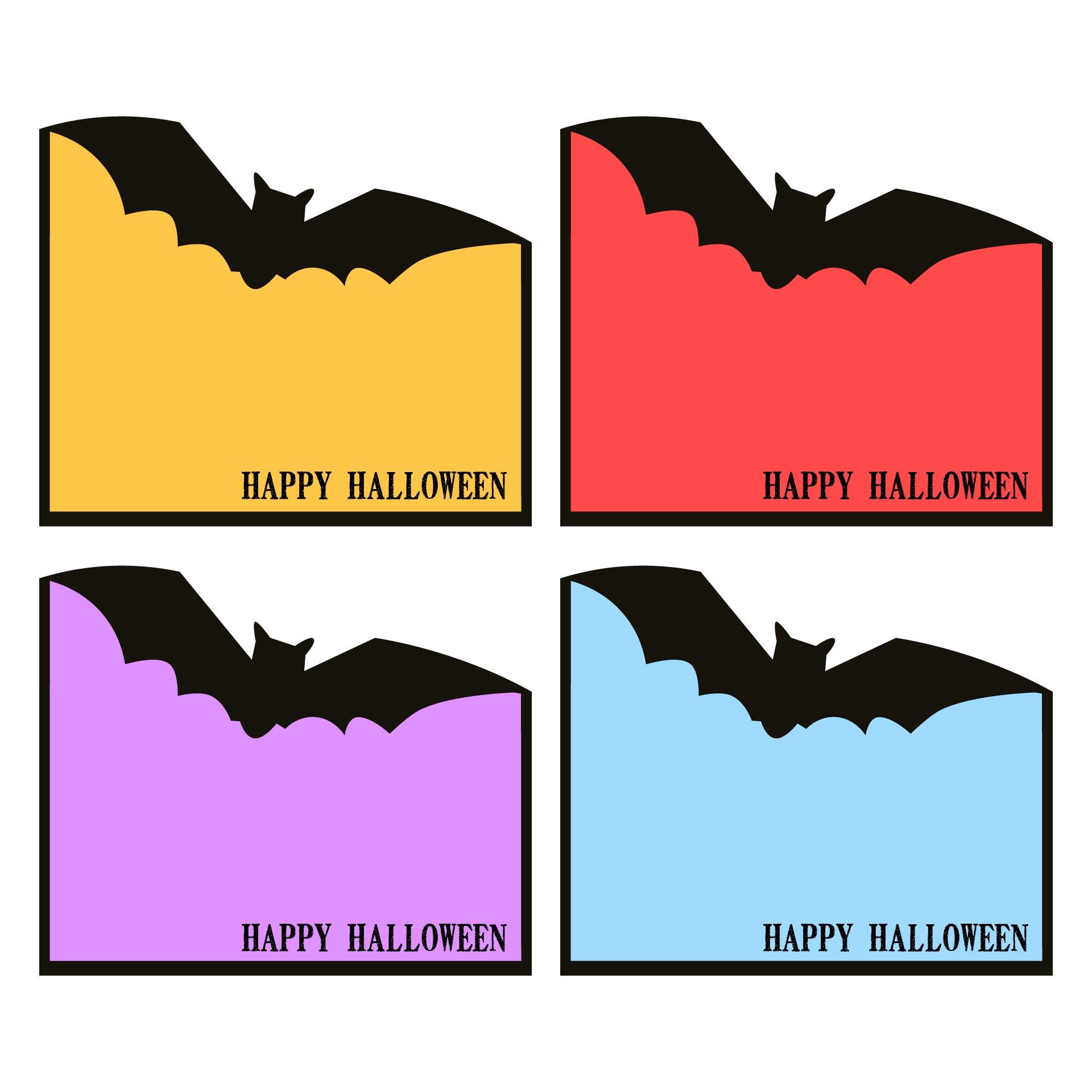 Halloween Tags Printable Happy Halloween Bat