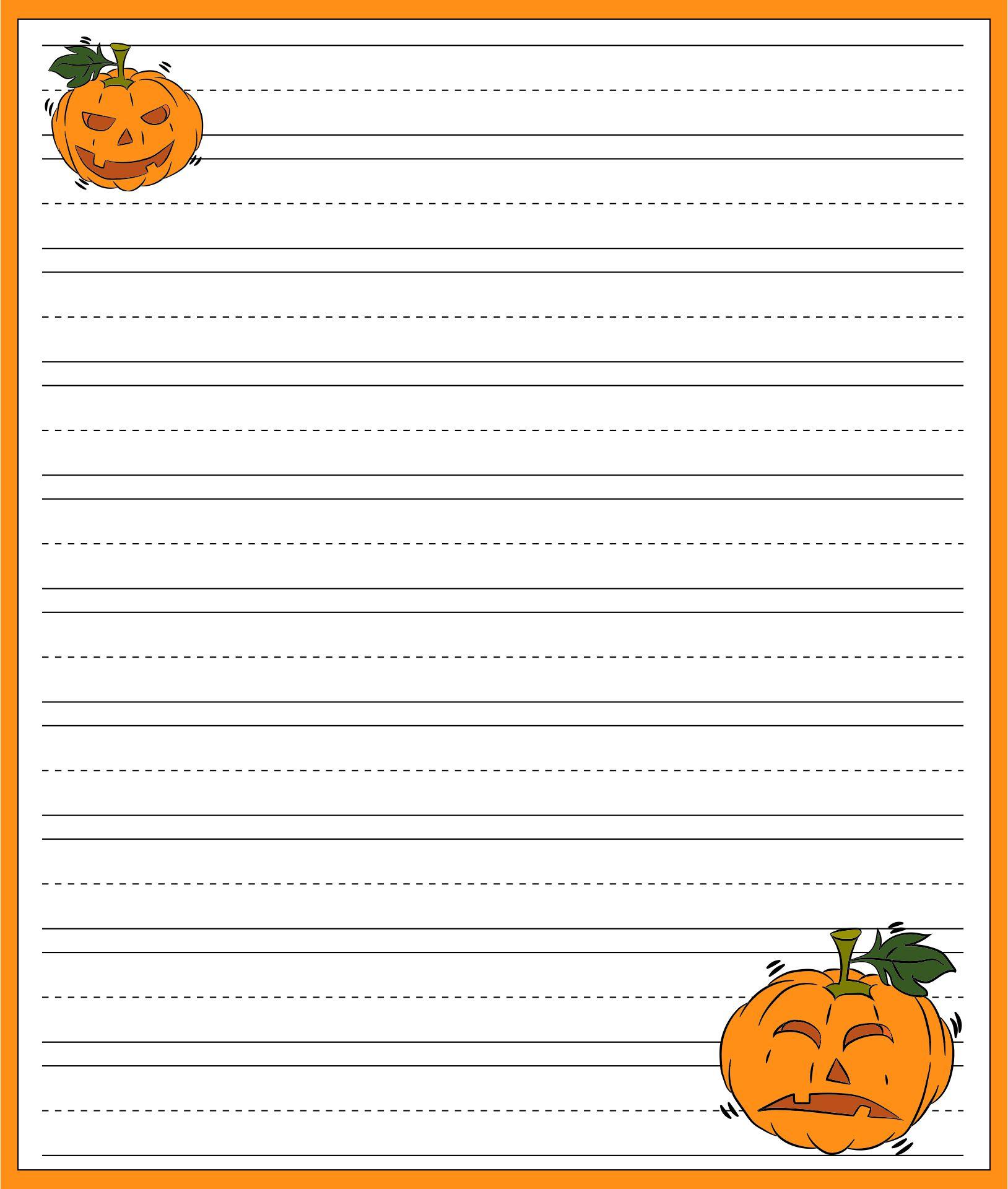 Halloween Themed Writing Paper Printable