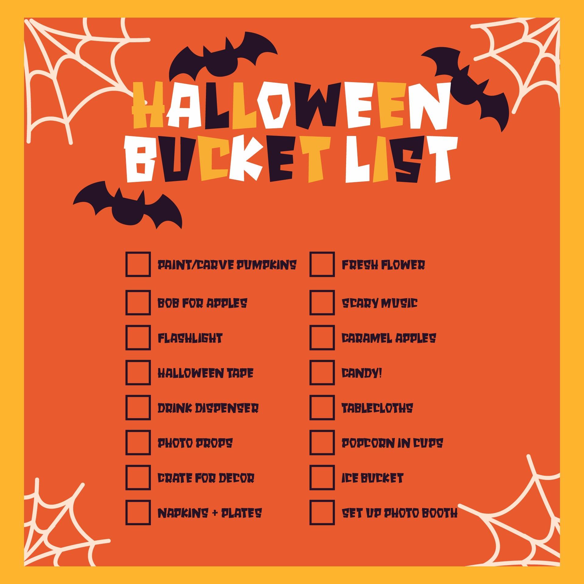 Halloween To-Do List Planner Printable