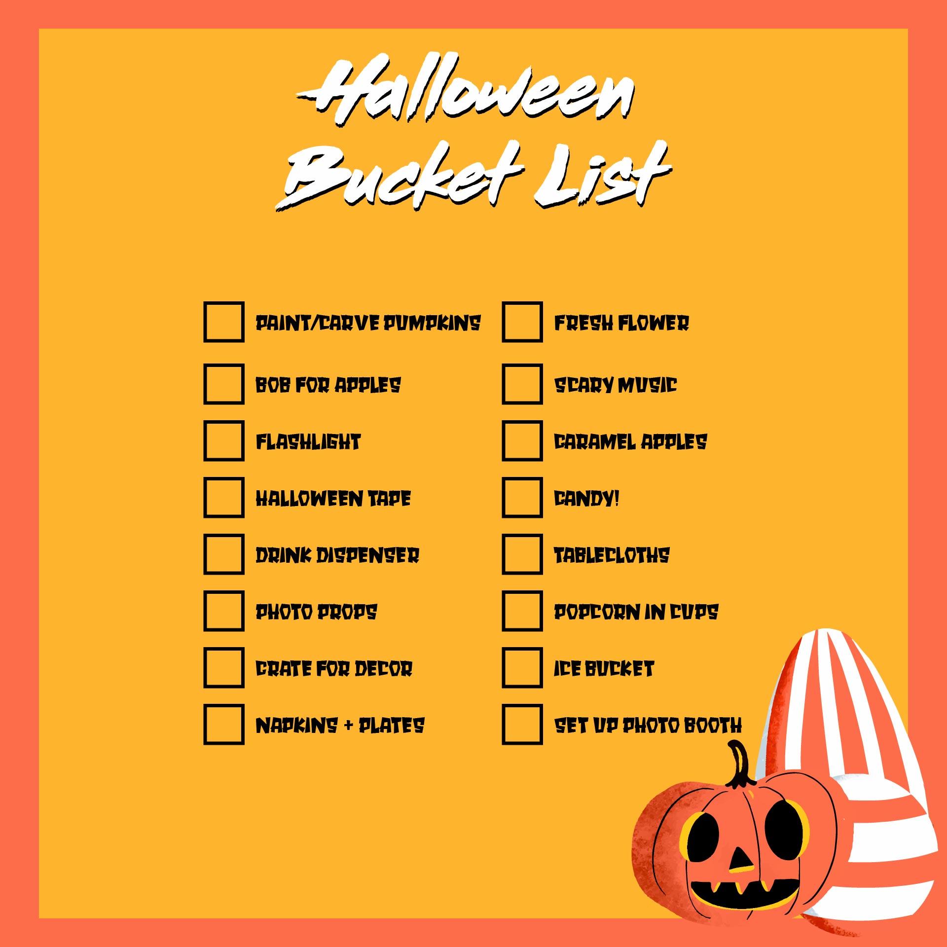 Halloween To-do List Printable Notebook