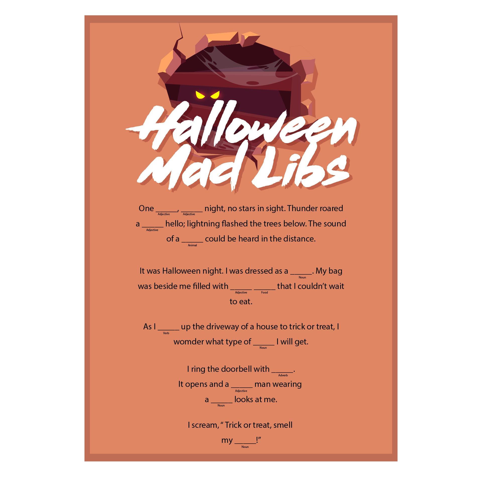 Halloween Treats Mad Lib