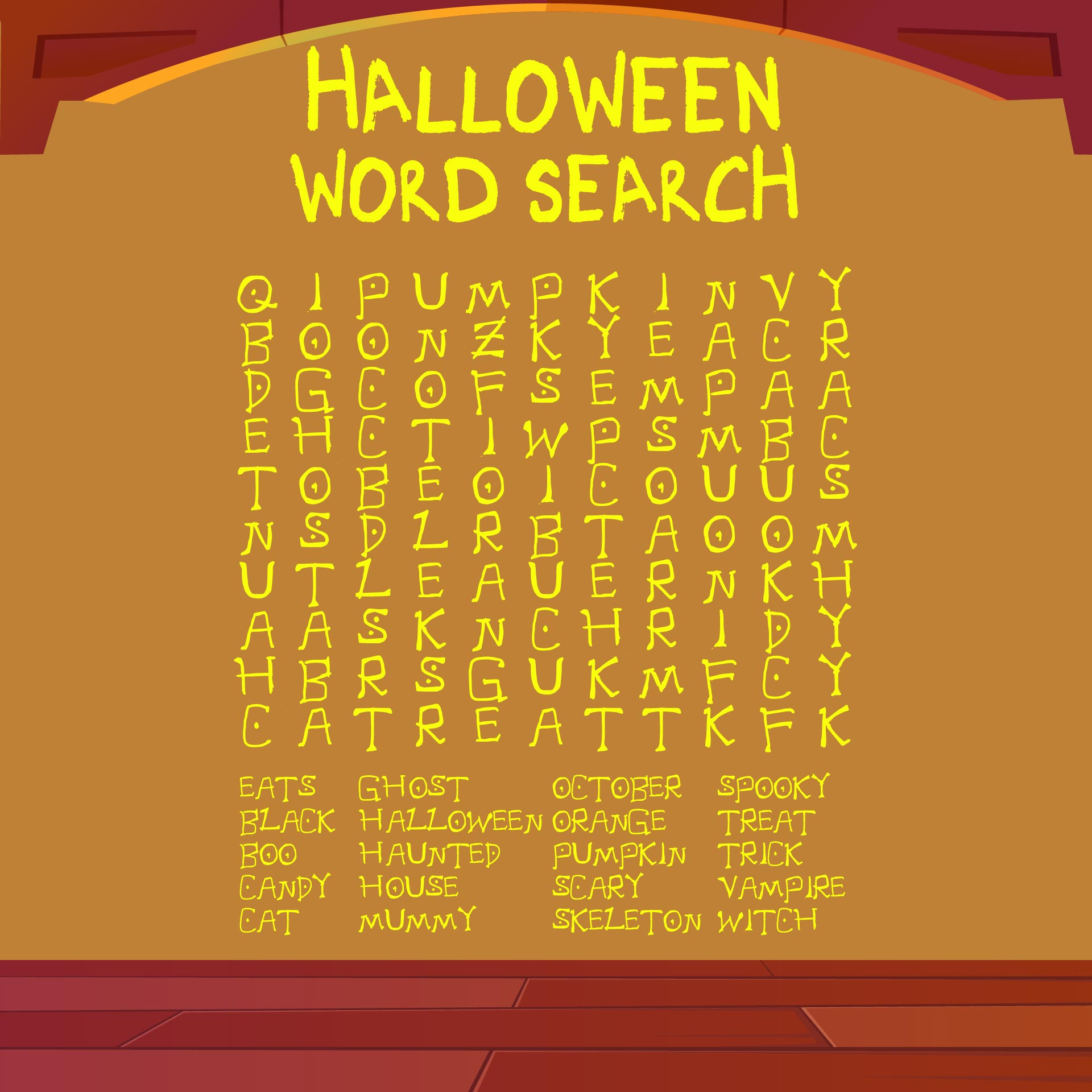 Halloween Word Search Puzzles To Print