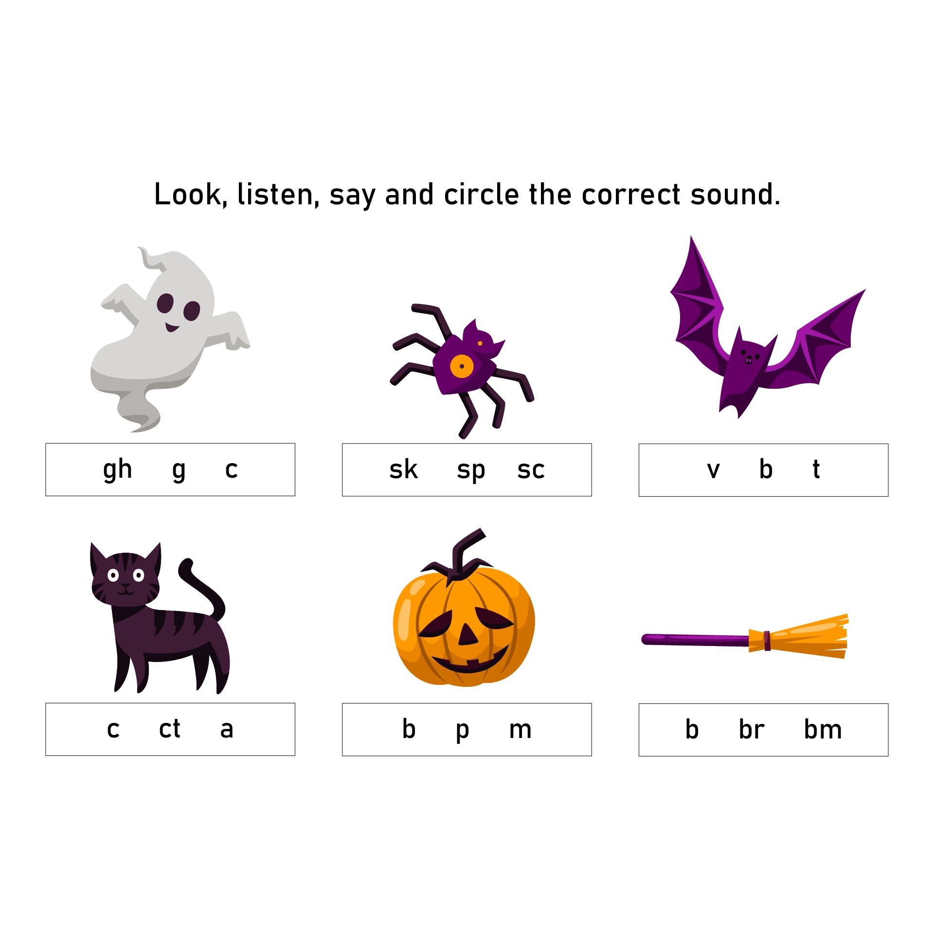Halloween Worksheets For Kindergarten Pdf