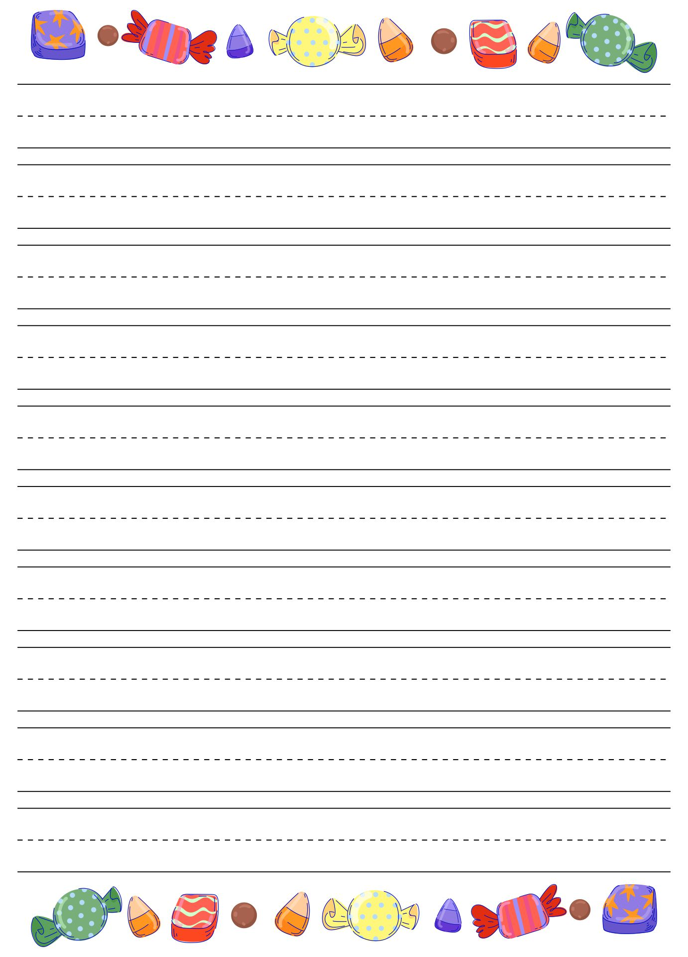 Halloween Writing Paper Worksheets