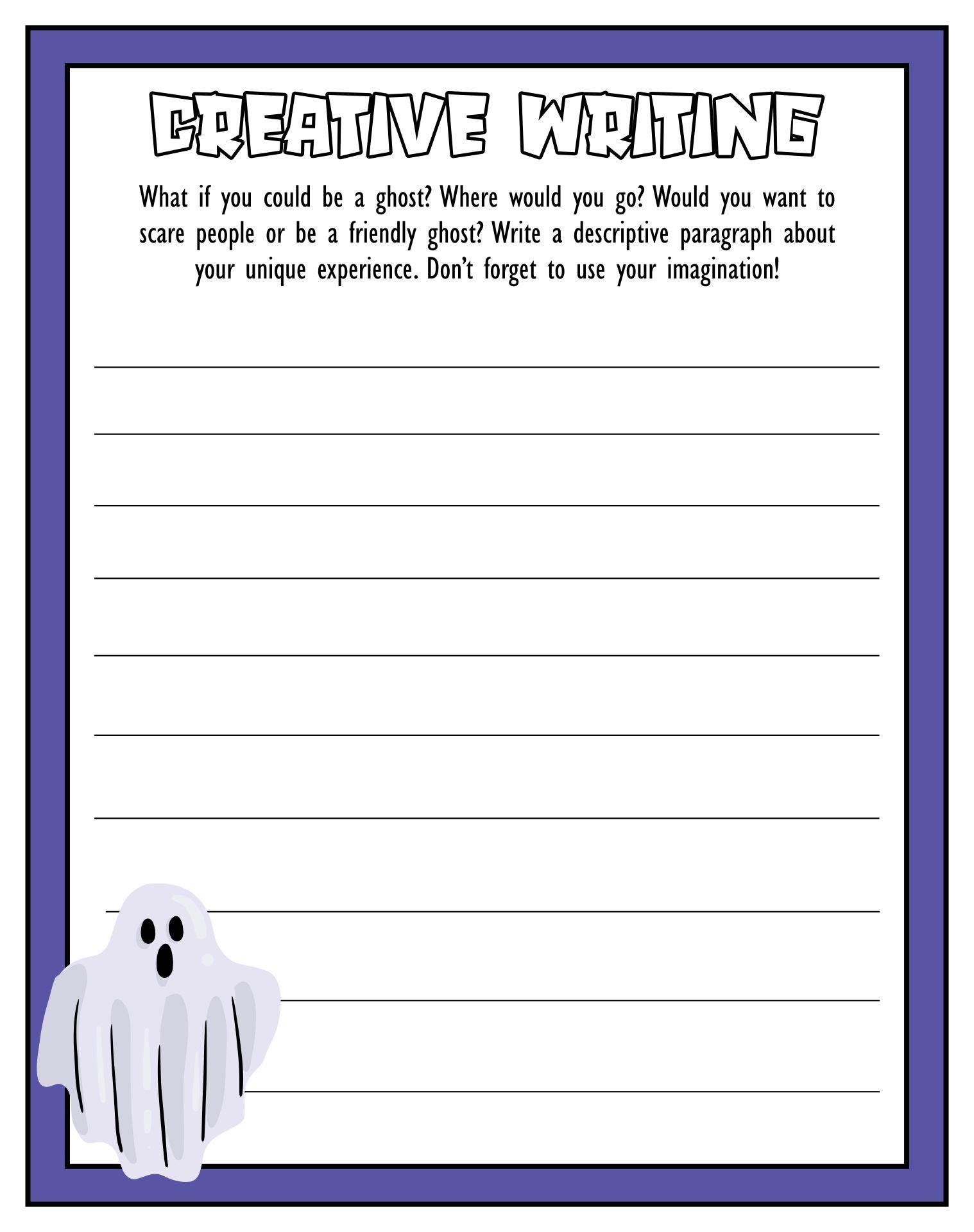 Halloween Writing Prompts For Kids Free Printable