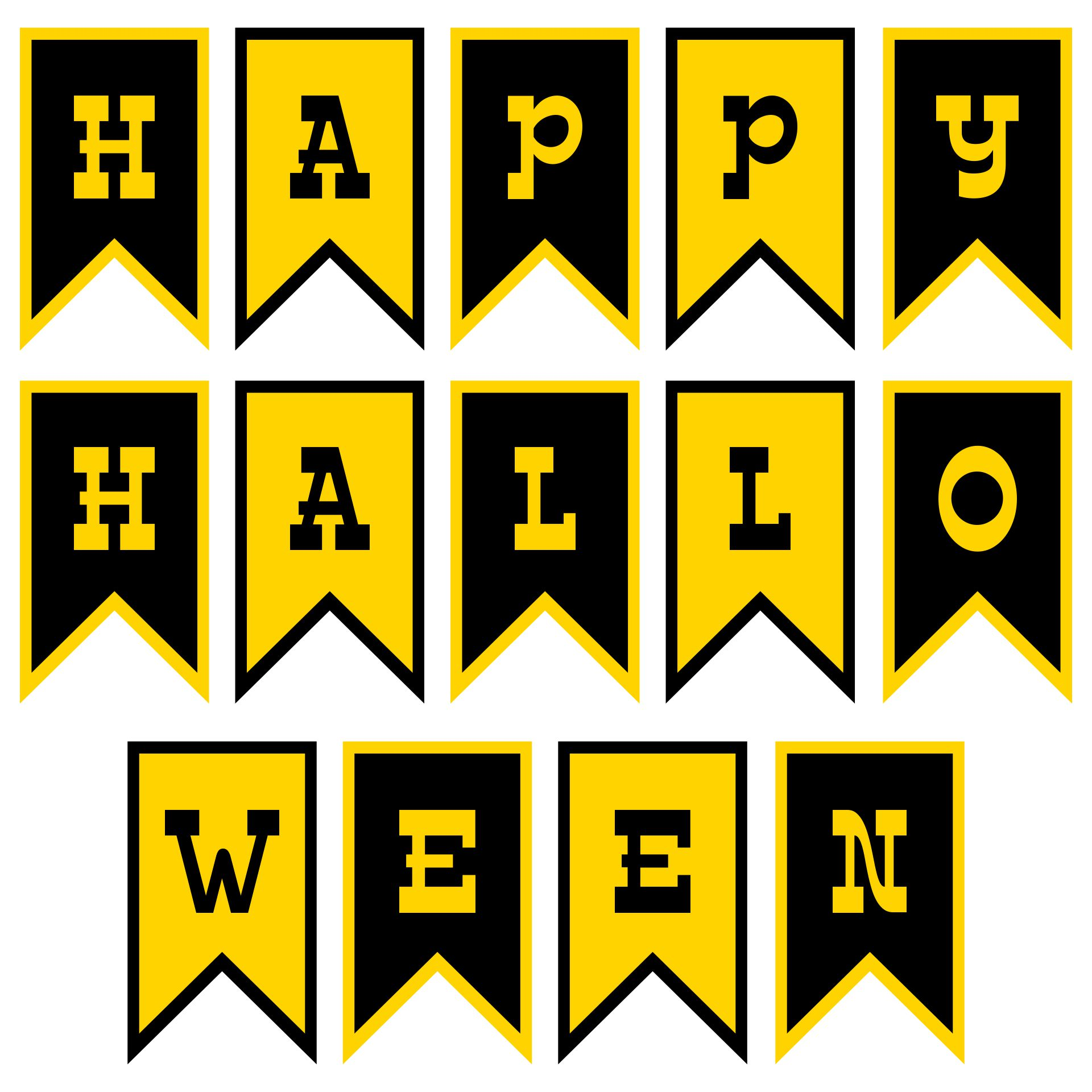 Happy Halloween Banner Template Ideas