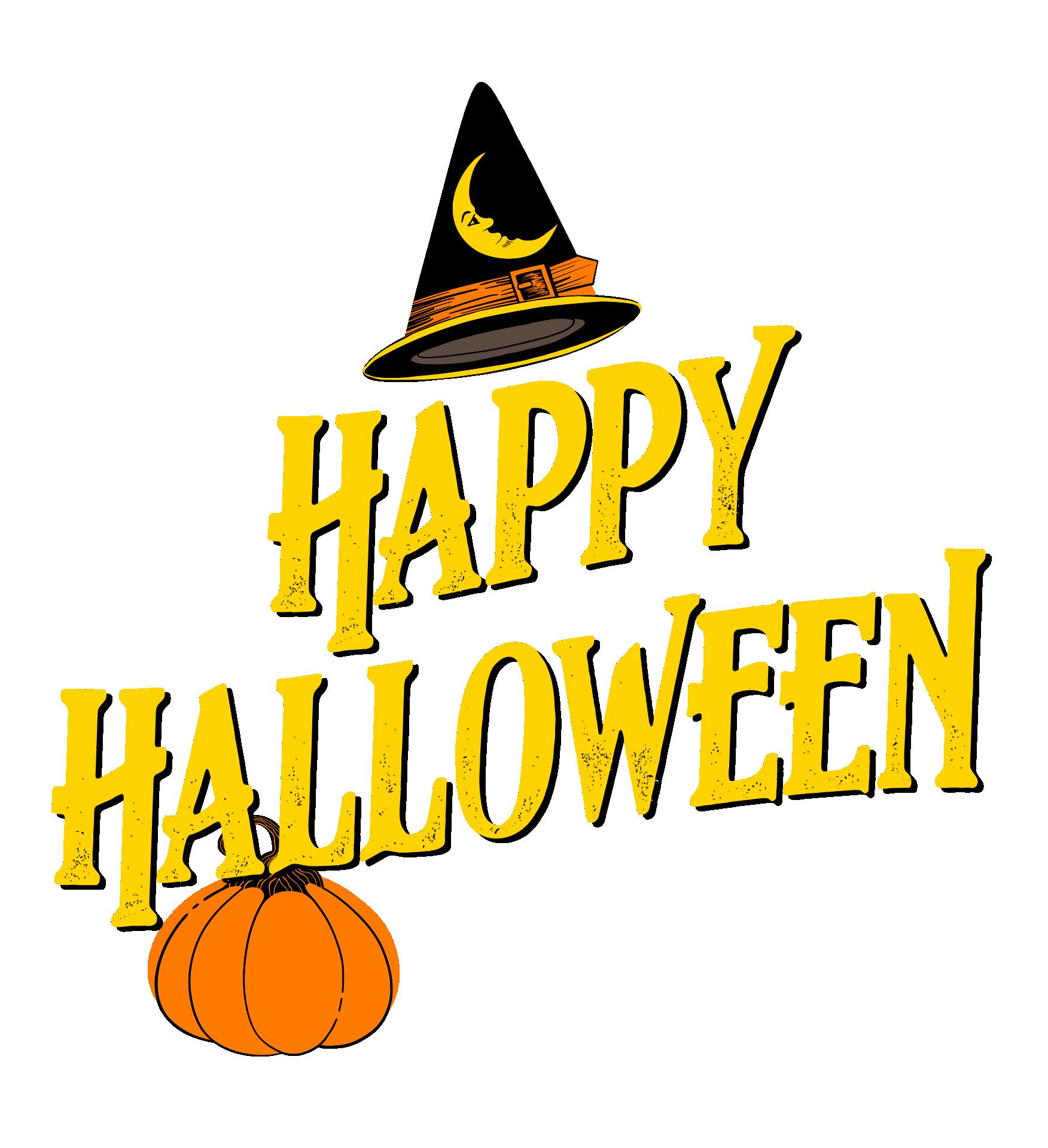 Happy Halloween Birthday Printable Card Transparent