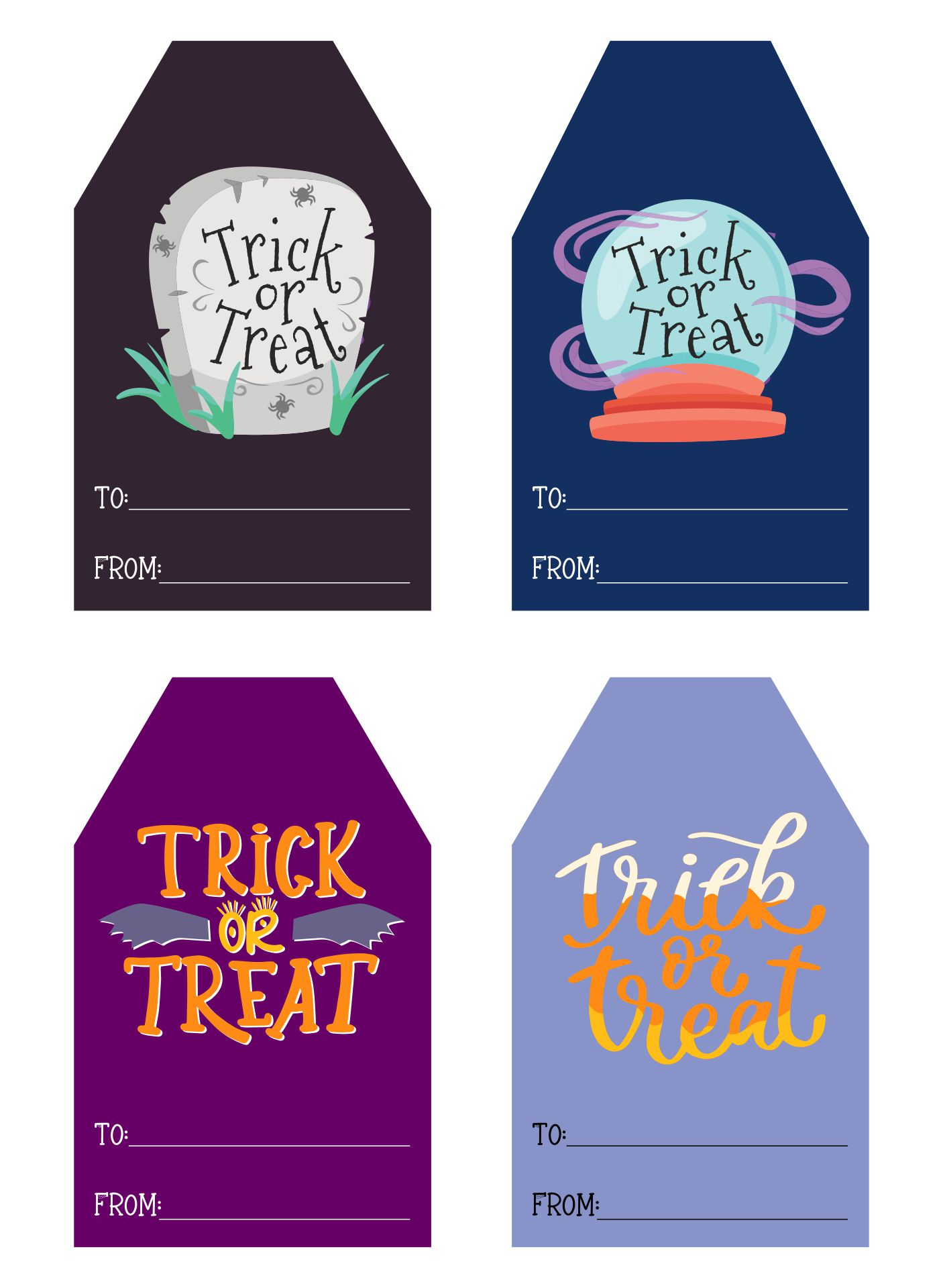 Happy Halloween Gift Tag Trick Or Treat
