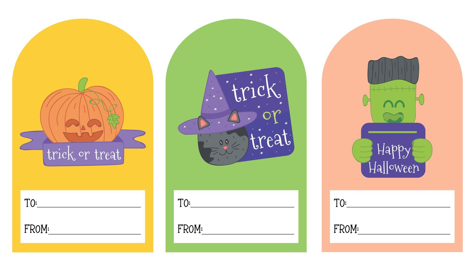 Happy Halloween Gift Tags Printable