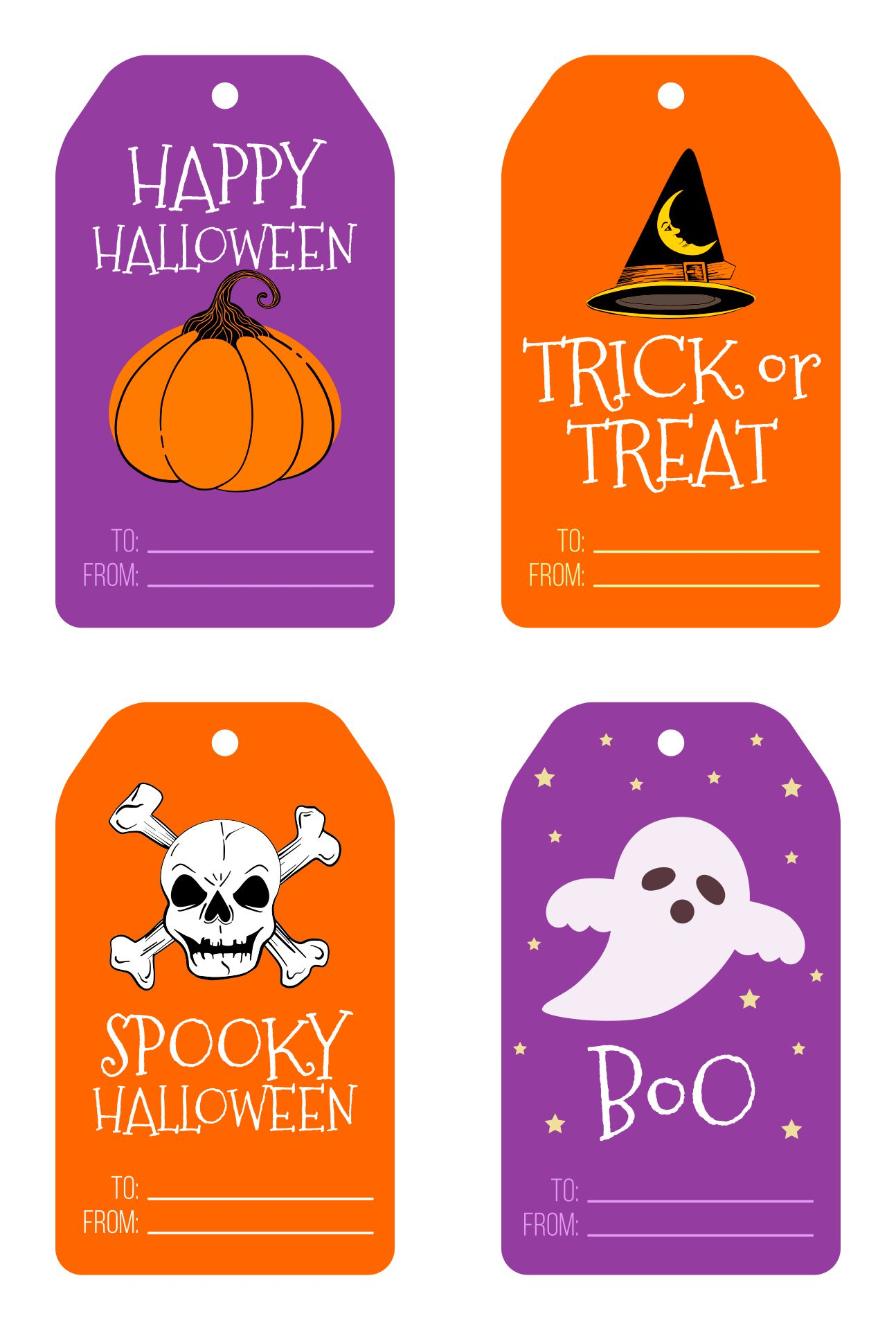 Happy Halloween Labels And Icons