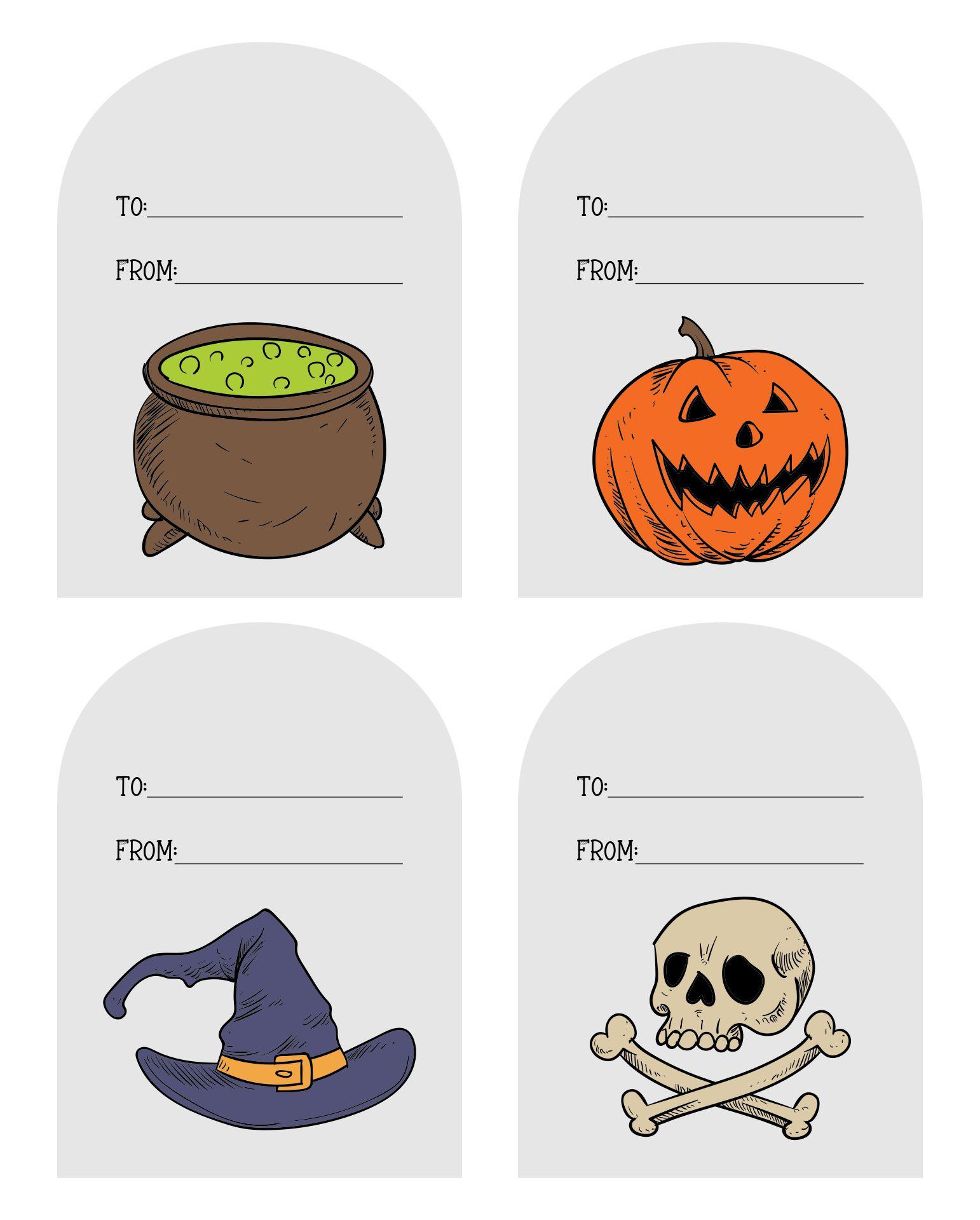 Happy Halloween Tags Free Printable