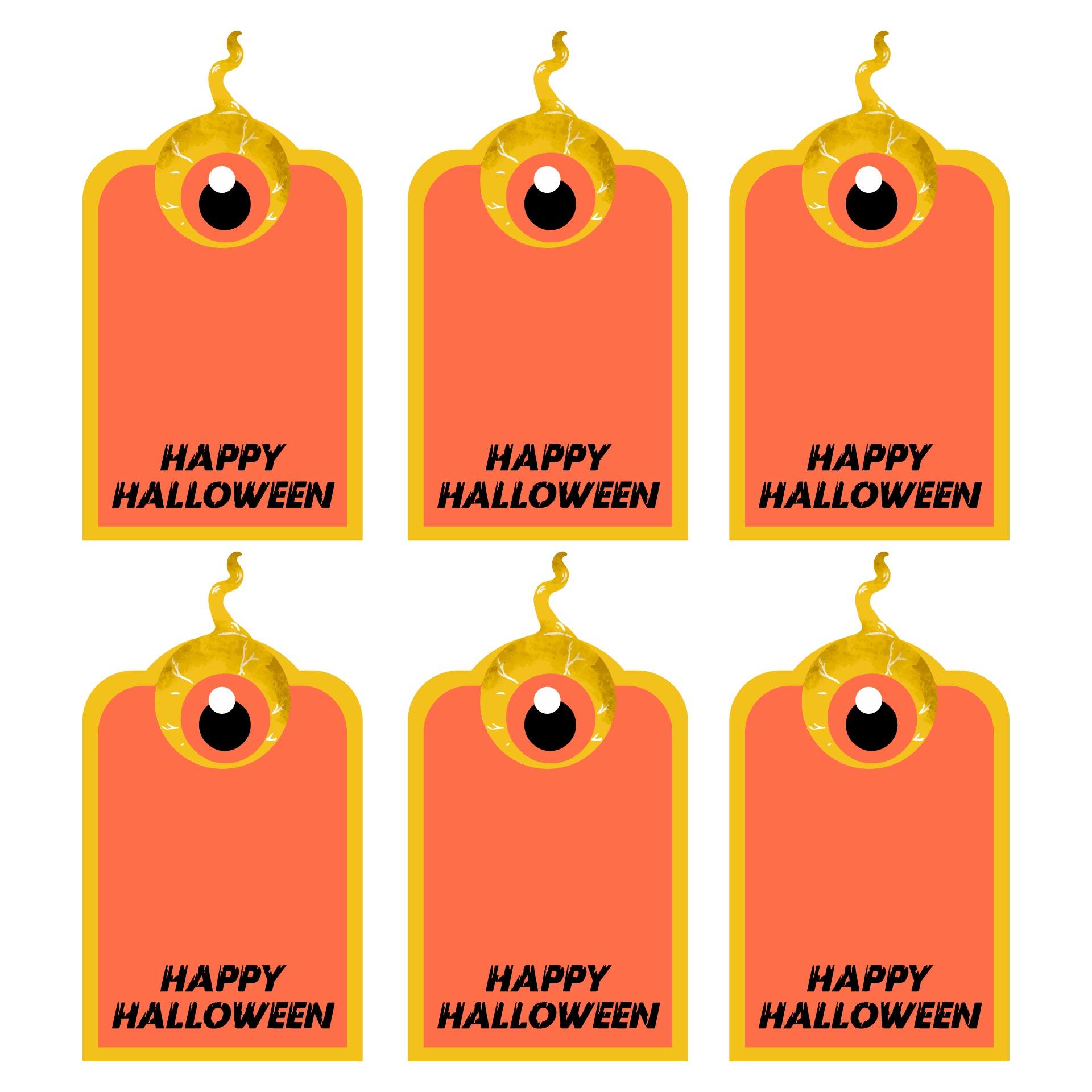 Happy Halloween Treat Bag Tags