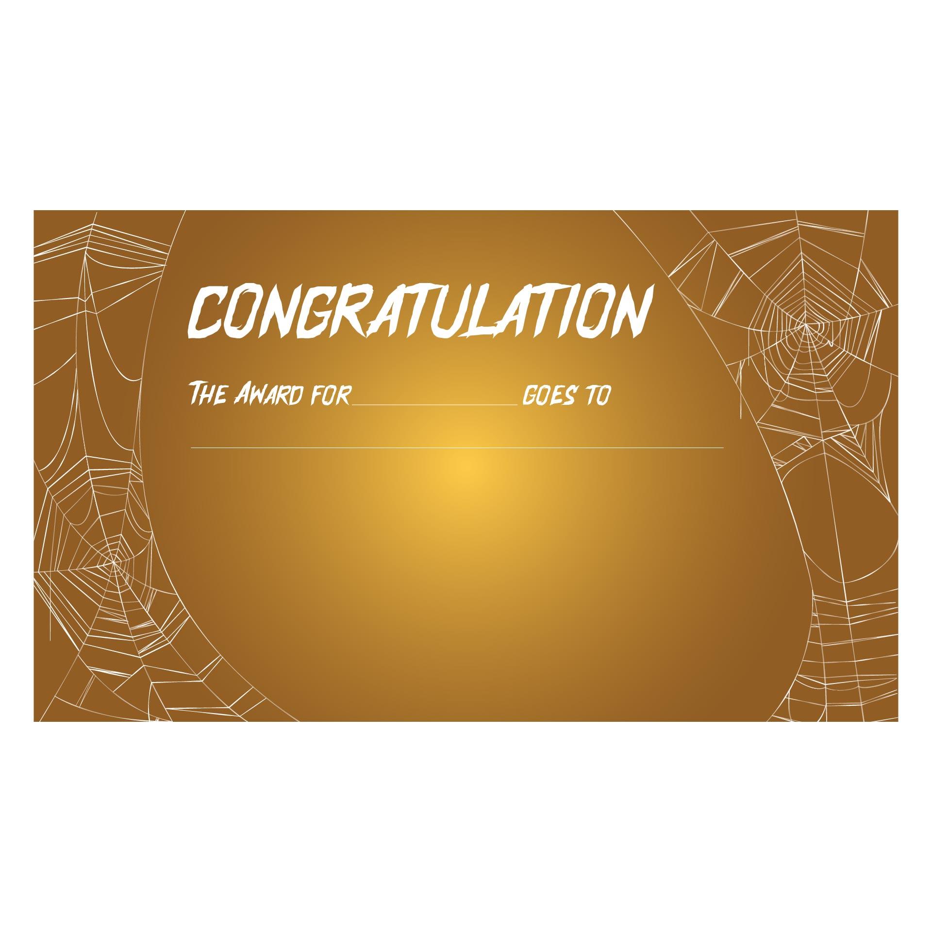 Printable Award Certificates Halloween