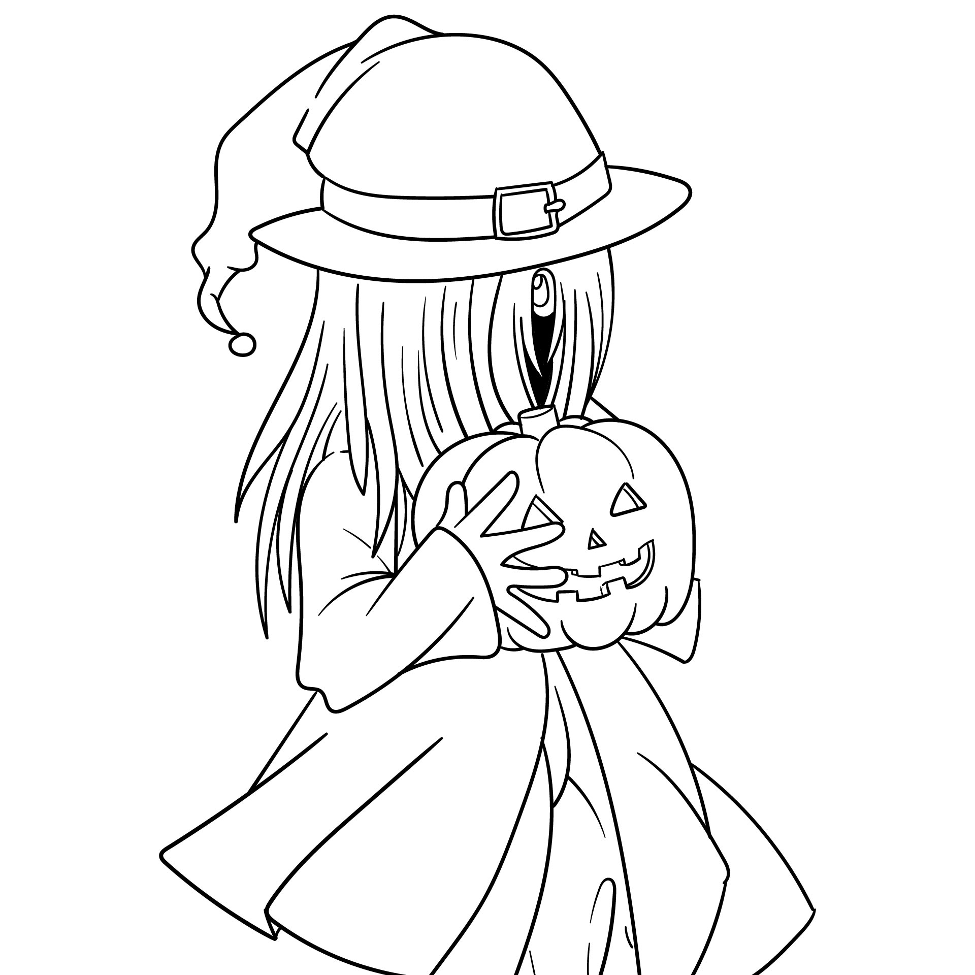 Printable Coloring Pages For Kids Halloween