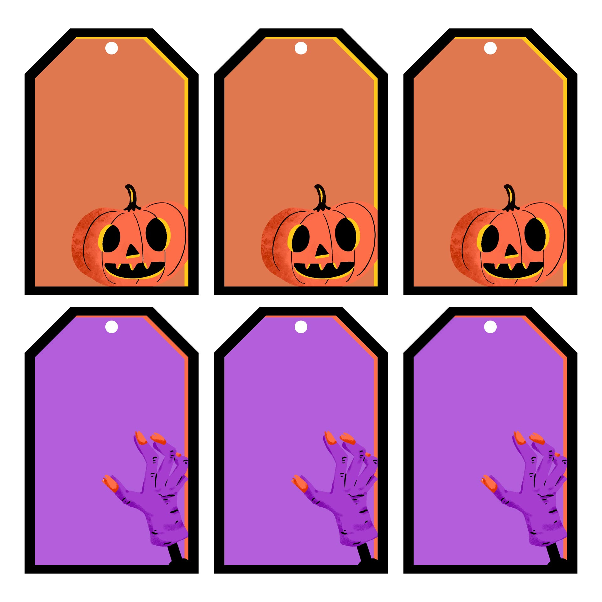 Printable Cute Halloween Gift Tag Happy Halloween