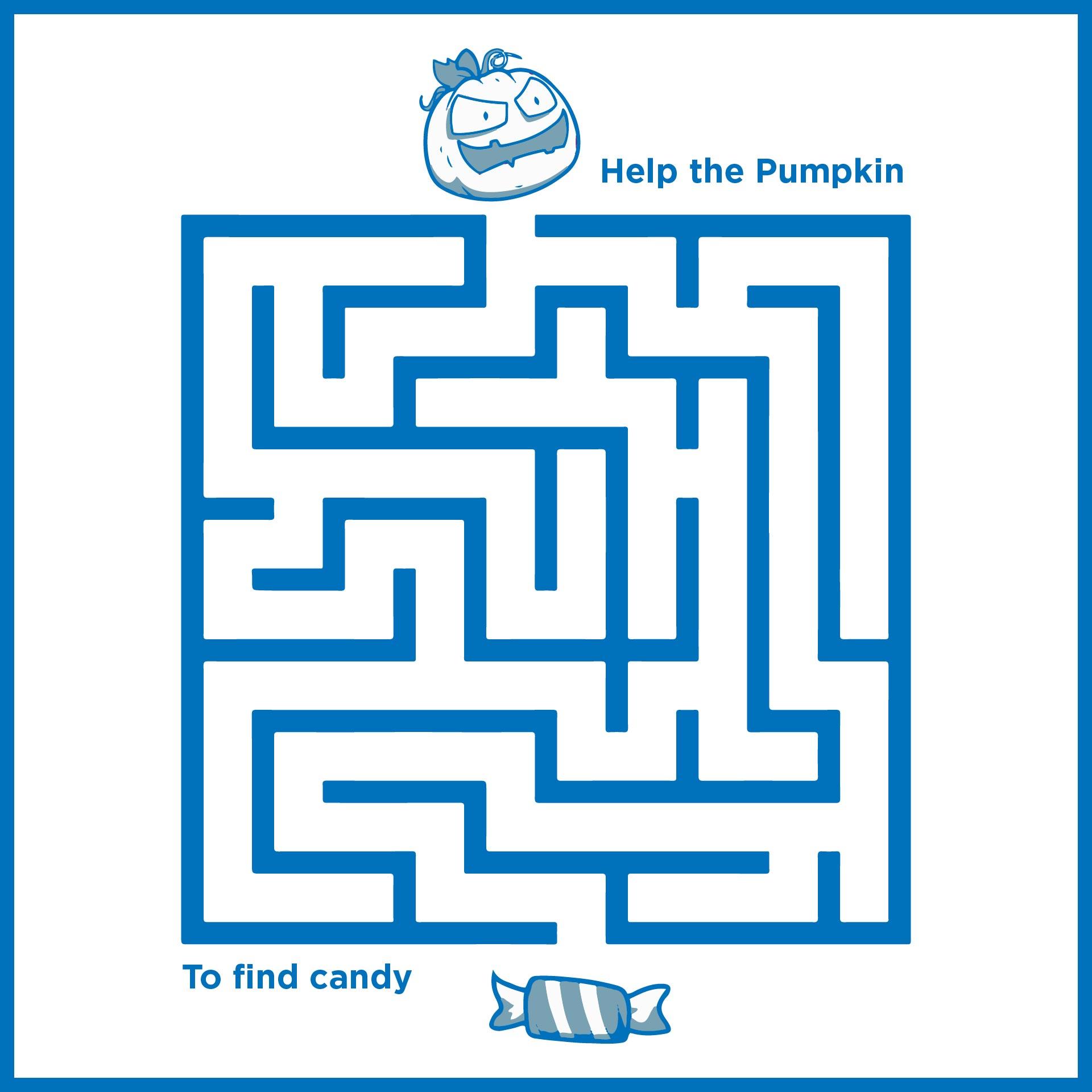 Printable Easy Halloween Mazes