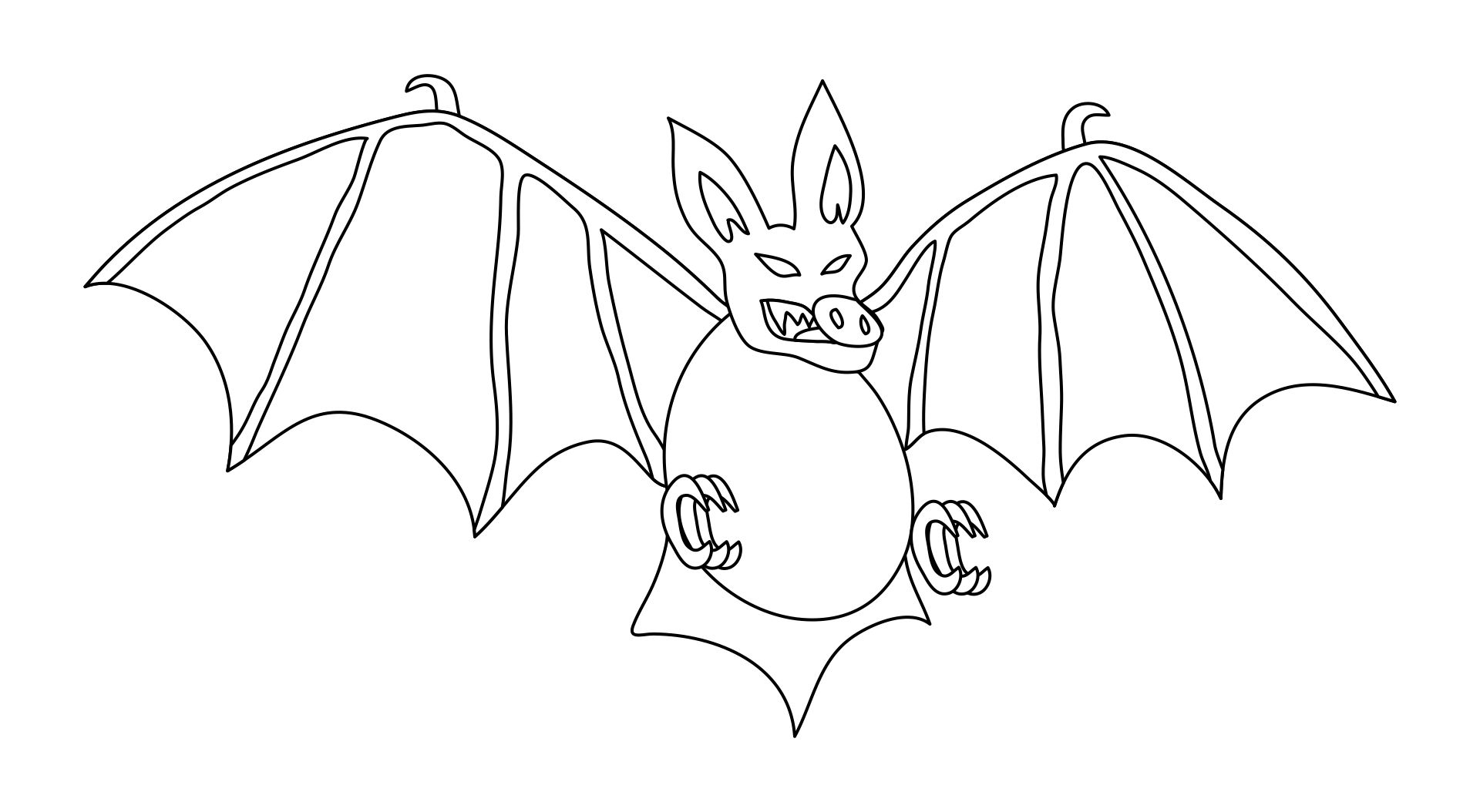 Printable Halloween Coloring Pages Bats