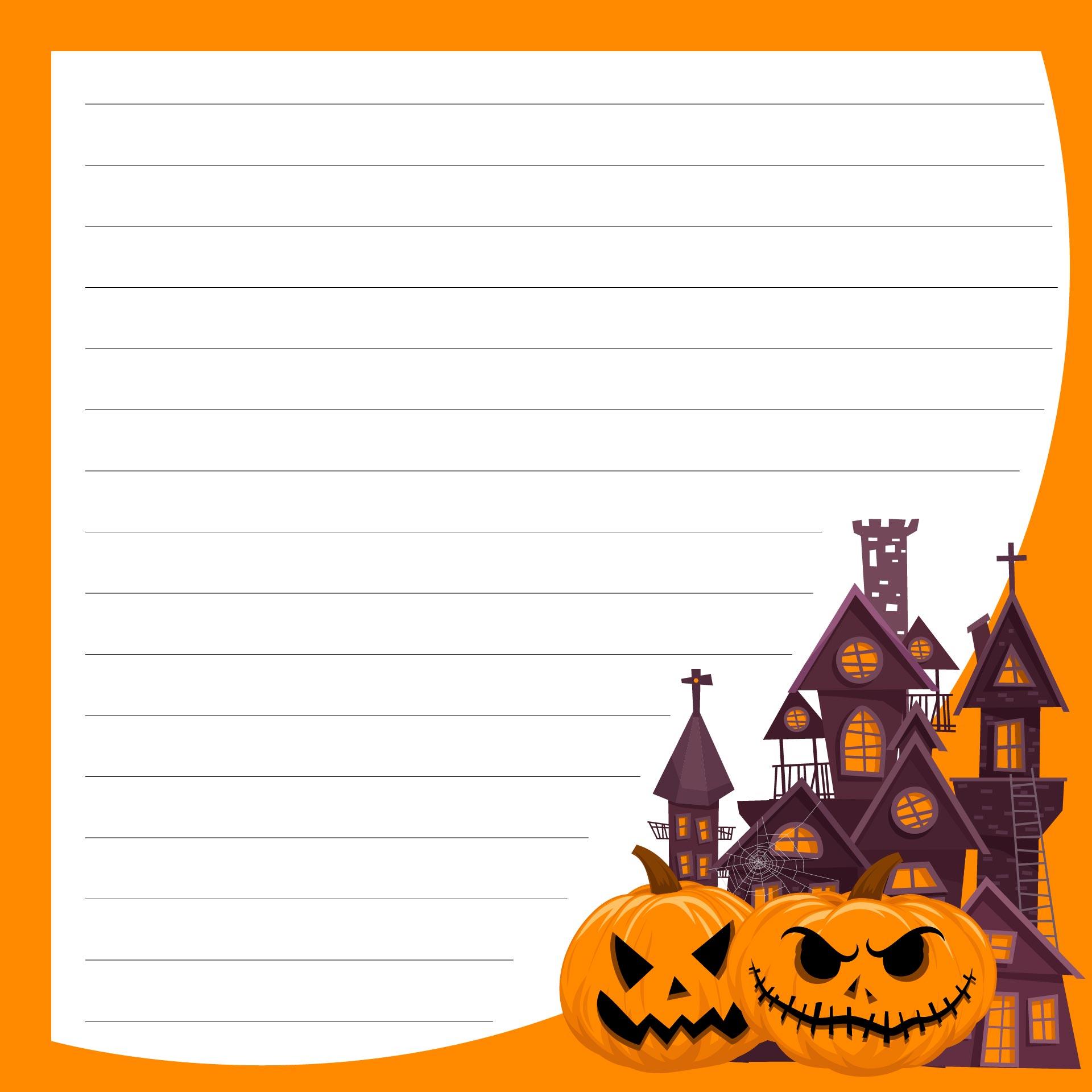 Printable Halloween Letterhead Template