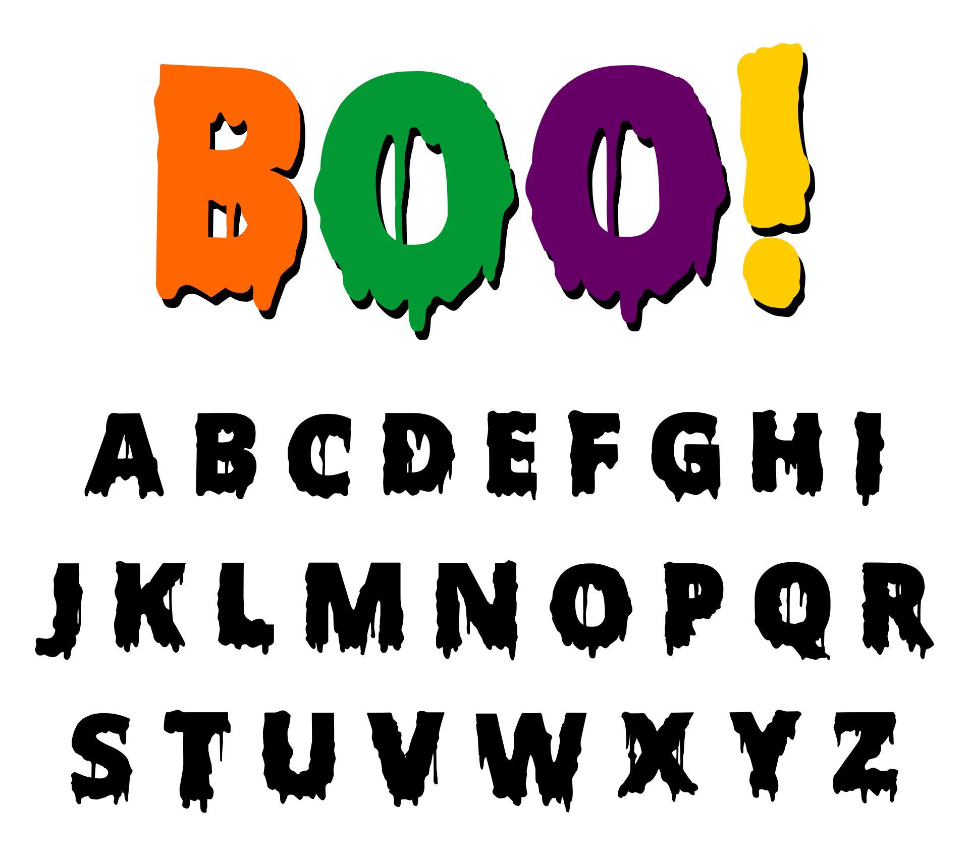 Printable Halloween Letters - Boo!