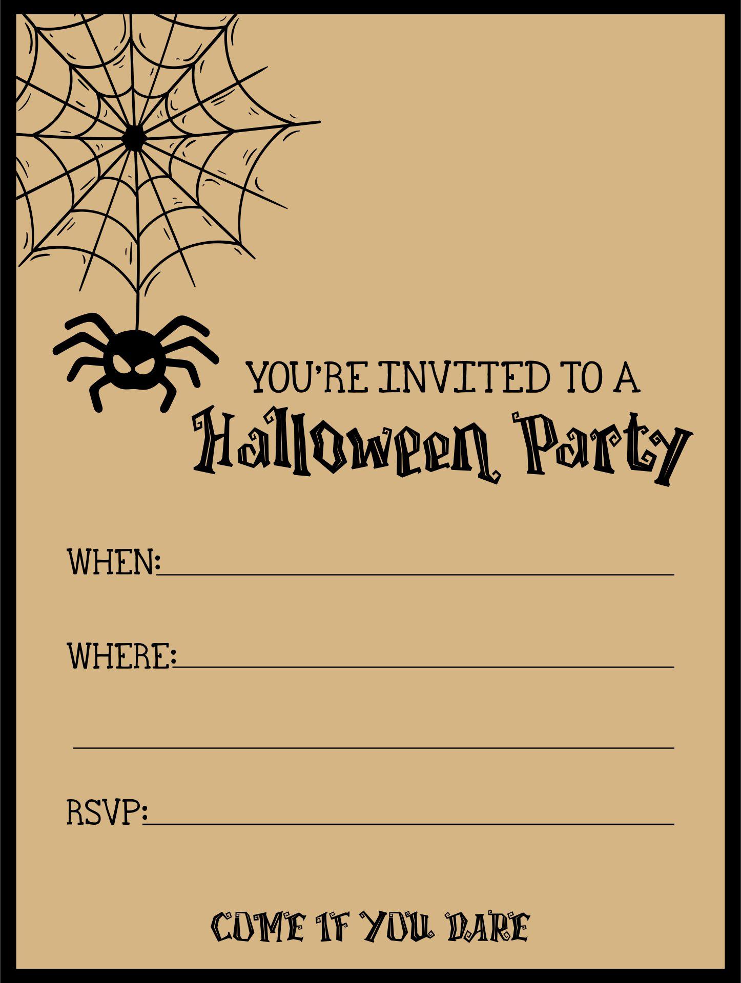 Printable Halloween Party Invitations Blank