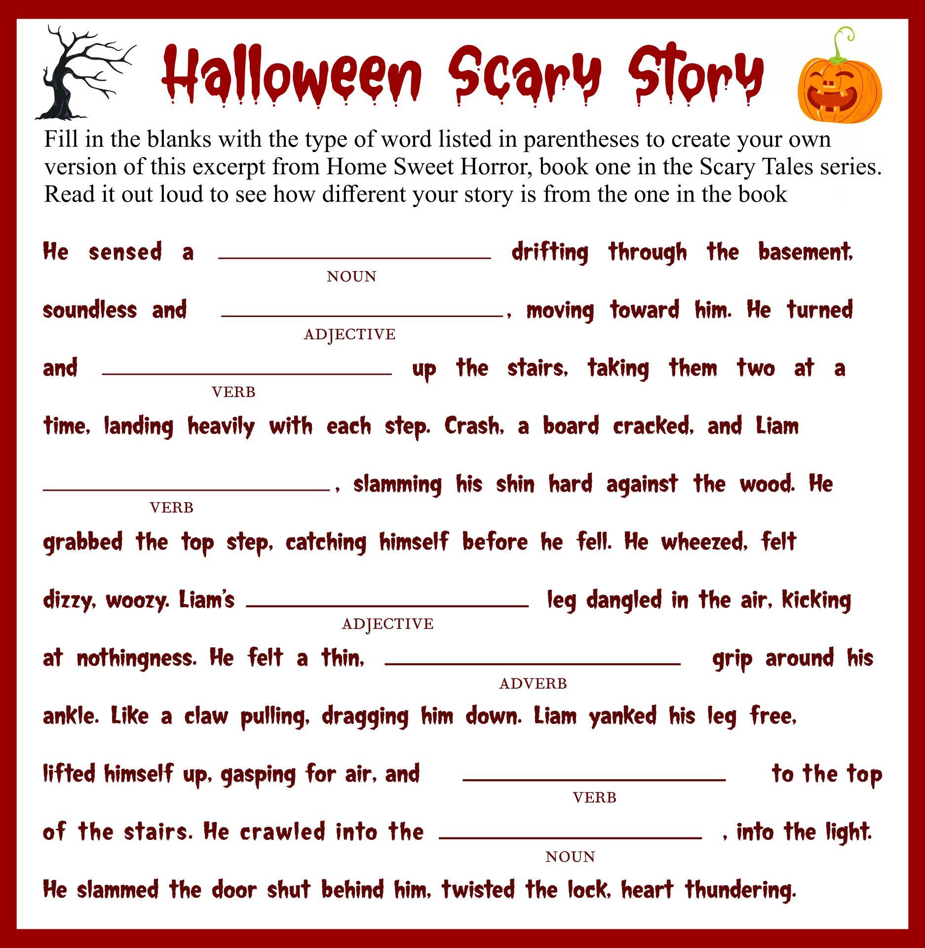 Printable Halloween Stories For Preschool