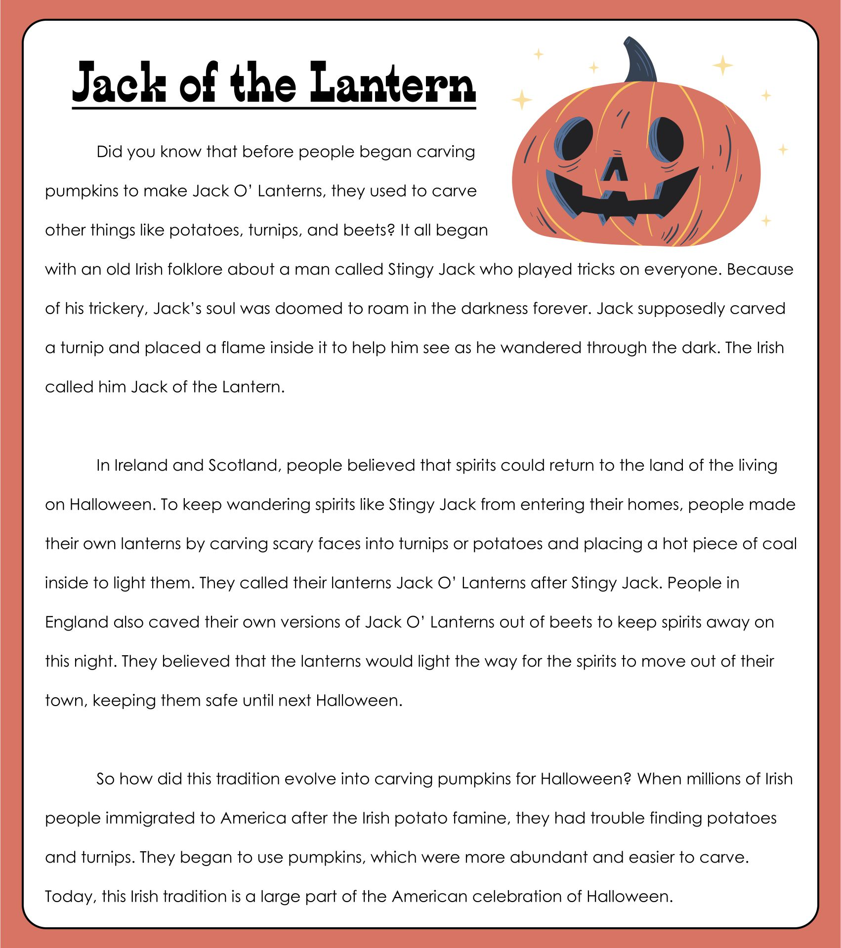 Printable Halloween Stories For Toddlers