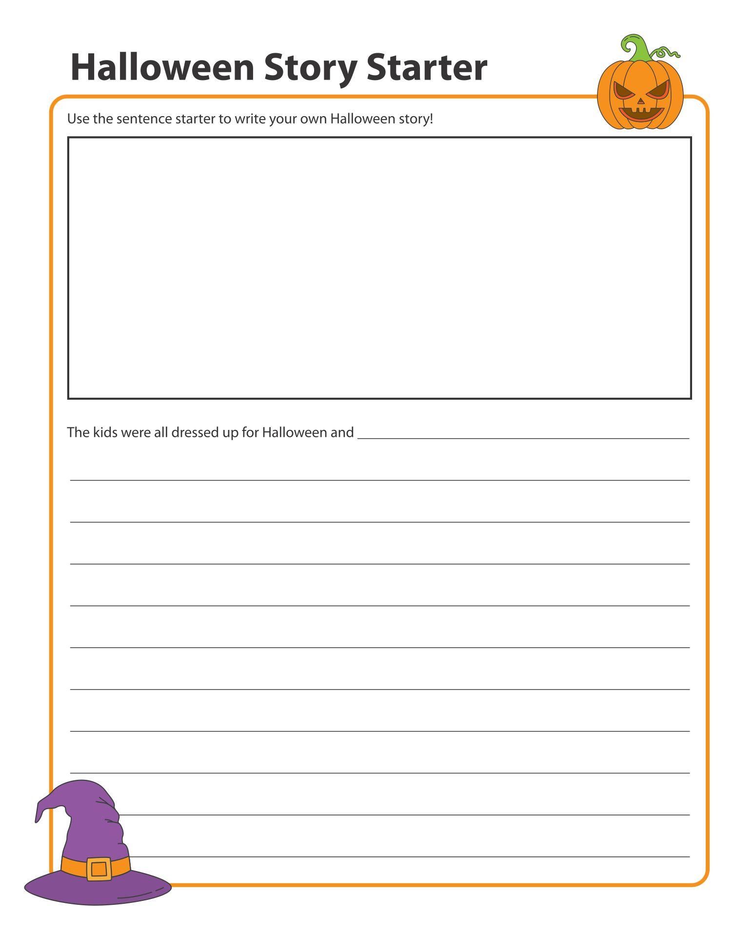 Printable Halloween Story Starters For Kids