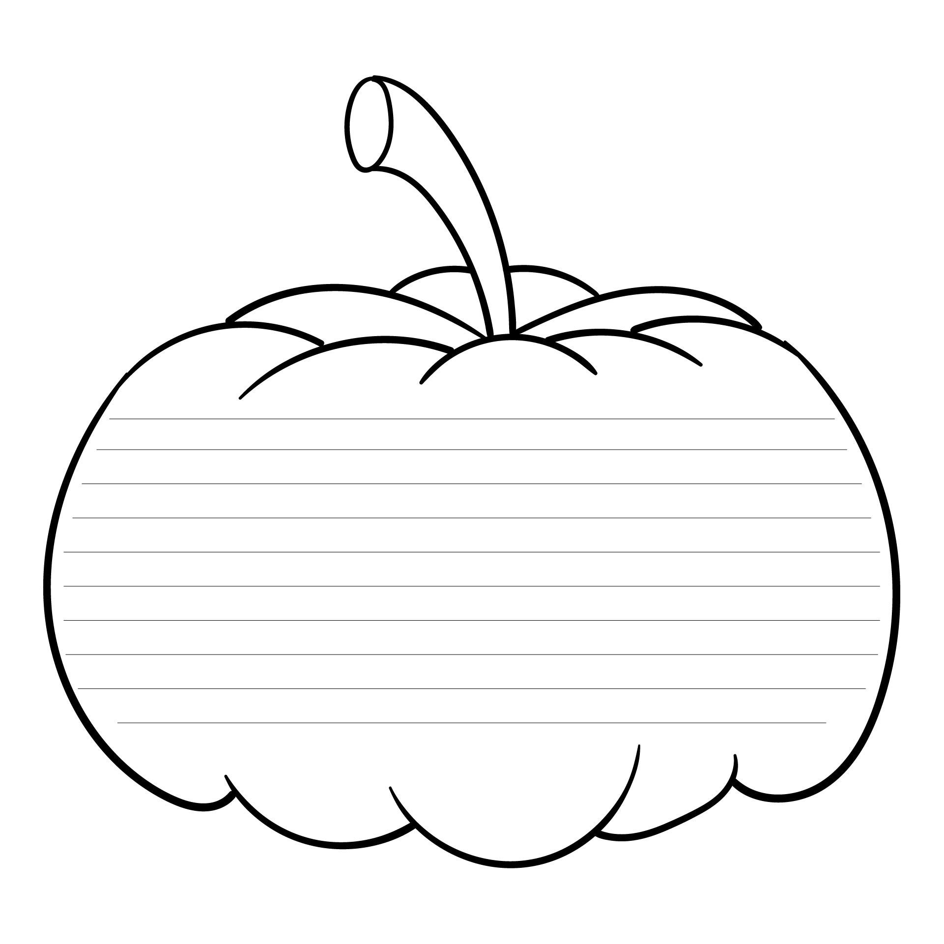 Printable Pumpkin Writing Paper