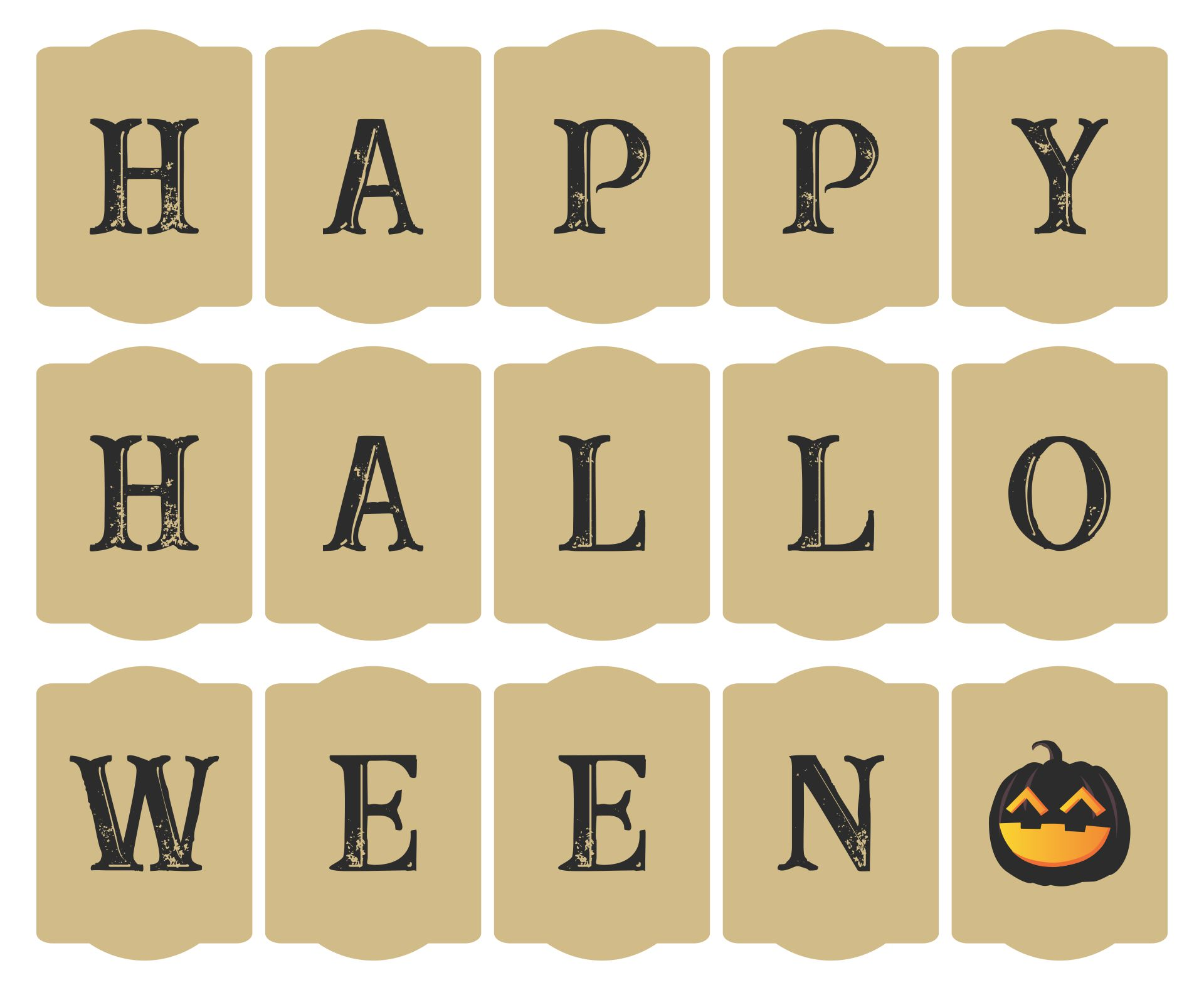 Printable Rustic Happy Halloween Banner