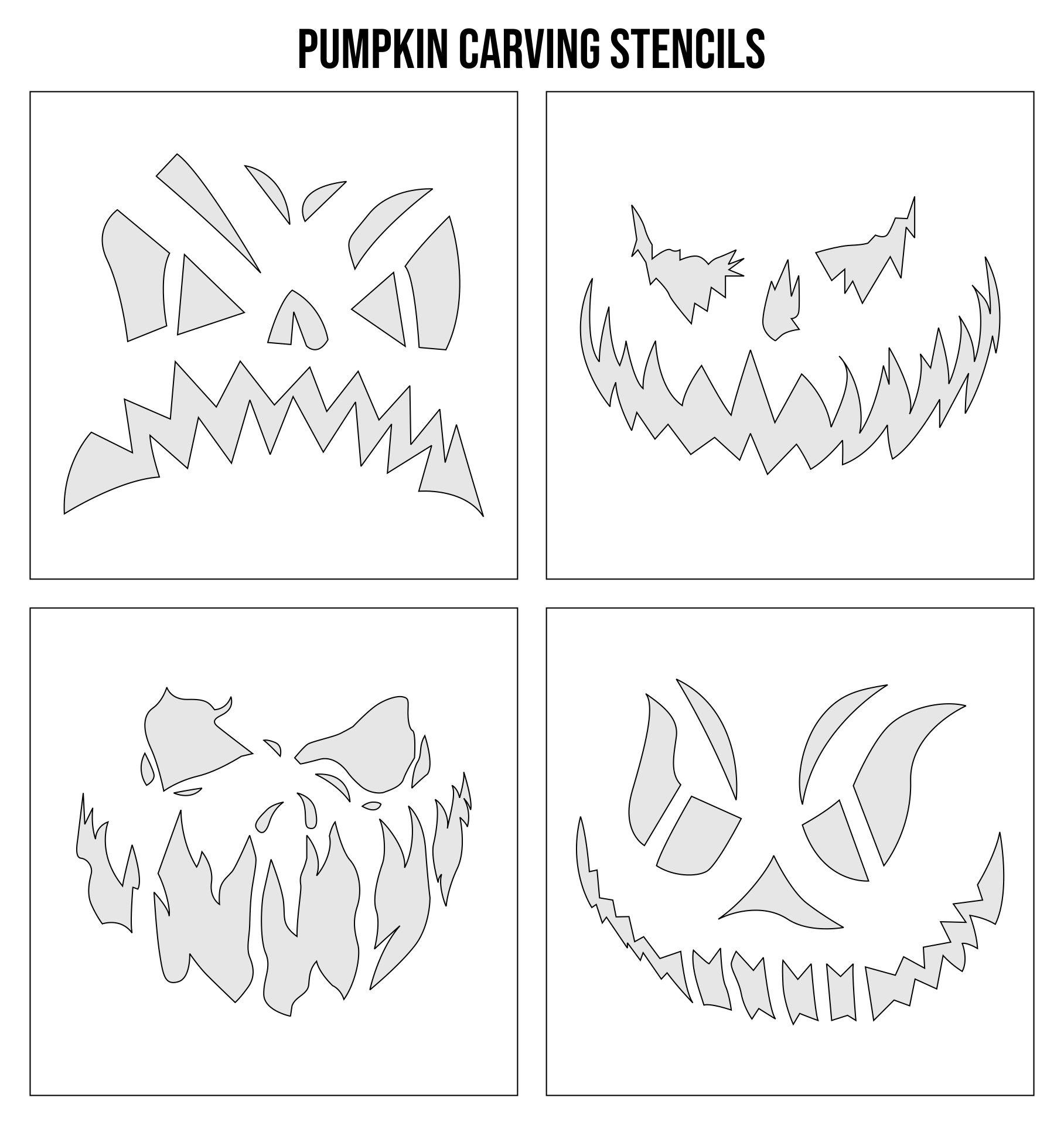 Printable Scary Halloween Pumpkin Decorations