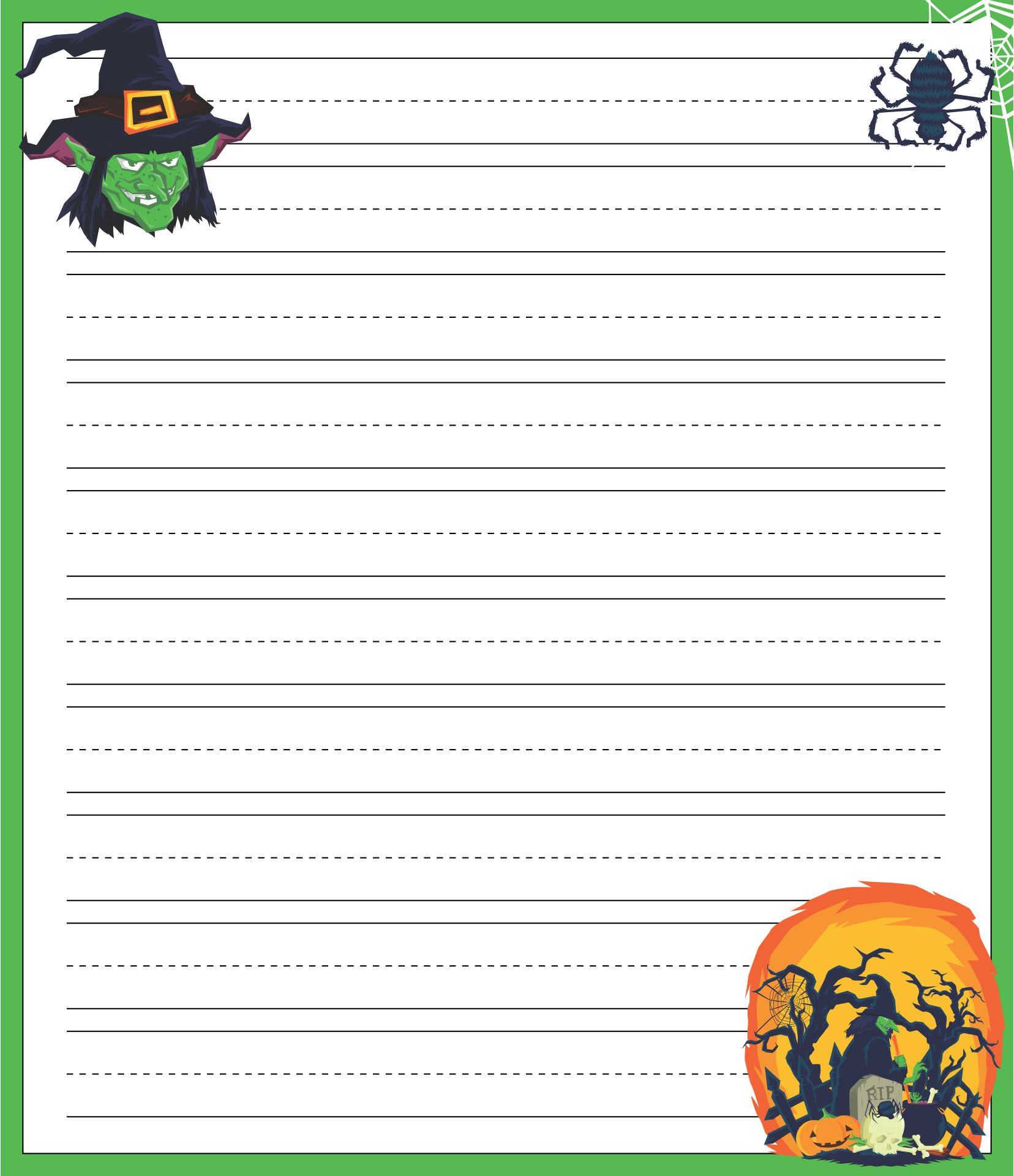 Scary Halloween Regular Lined Writing Paper