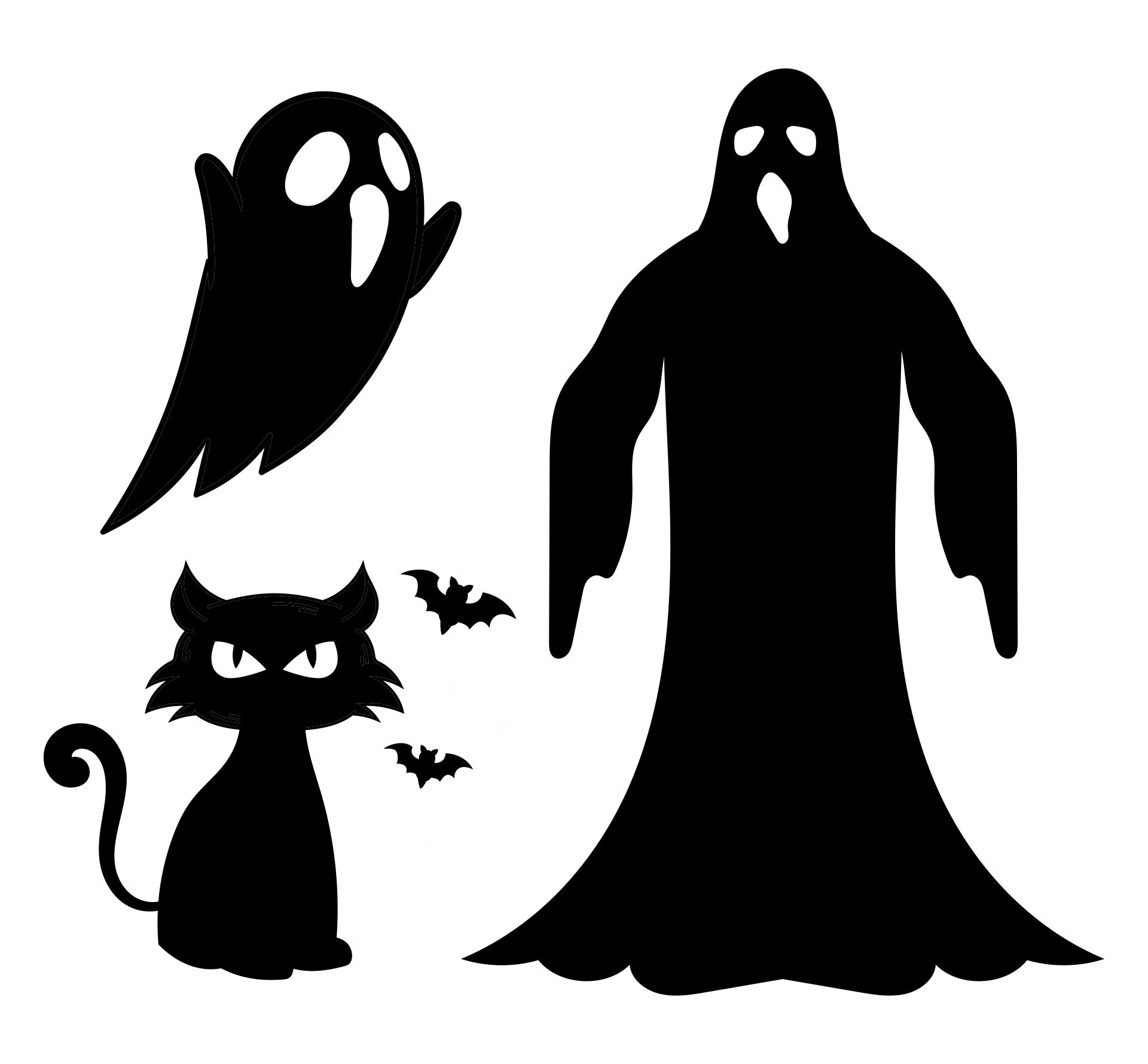 Scary Silhouette Halloween Window Decorations