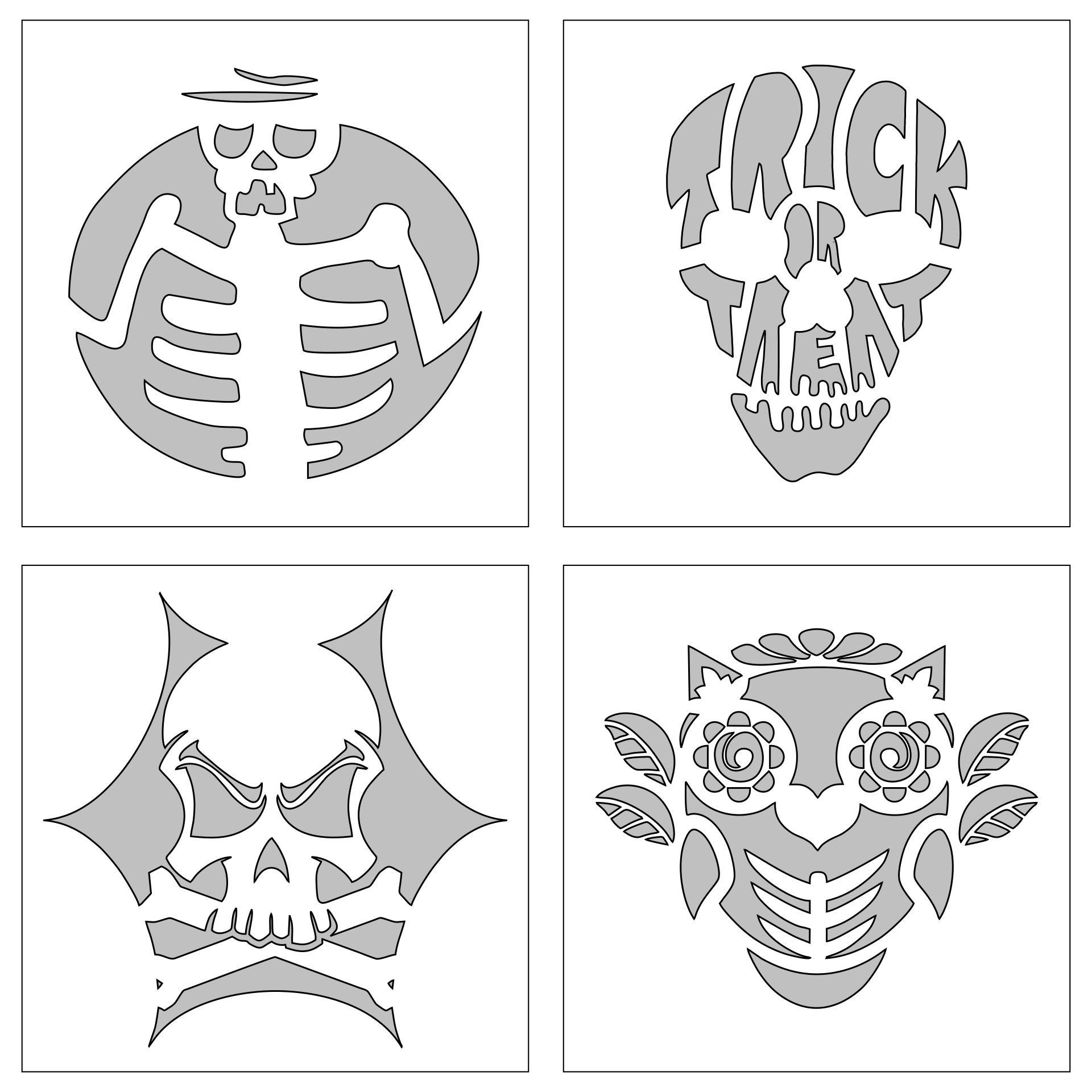 Skulls And Skeleton Pumpkin Templates To Carve
