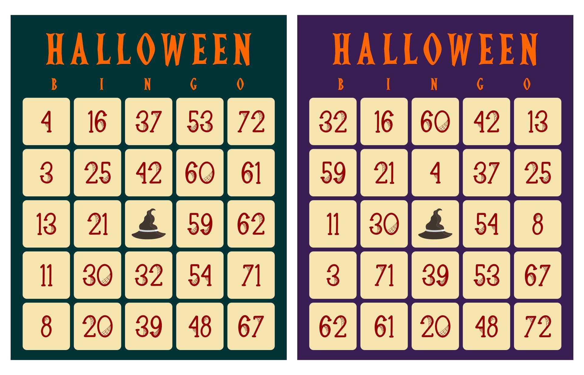 Spooky Halloween Bingo Game 60 Cards Halloween Bingo Words